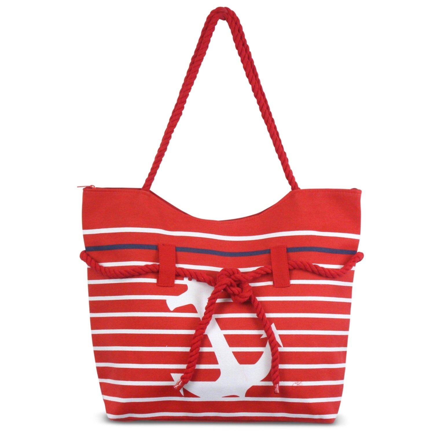 76902c6215b2 Shop Zodaca Red Anchor Women Handbag Ladies Large Rope Shoulder Tote Purse  Messenger Bag - Free Shipping On Orders Over  45 - Overstock.com - 16697955