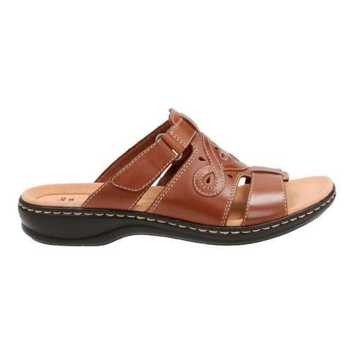 9828e9556d40 Shop Women s Clarks Leisa Higley Slide Tan Leather - Free Shipping Today -  Overstock - 14201576