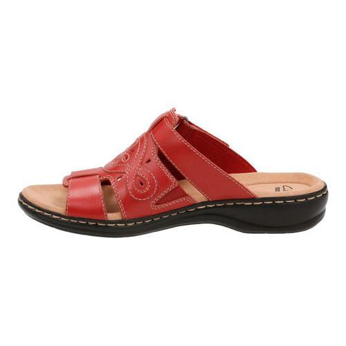 71dccbfdfca1 Shop Women s Clarks Leisa Higley Slide Red Leather - Free Shipping Today -  Overstock - 14201465