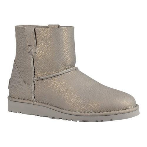 Women's UGG Classic Unlined Mini Metallic Silver Leather