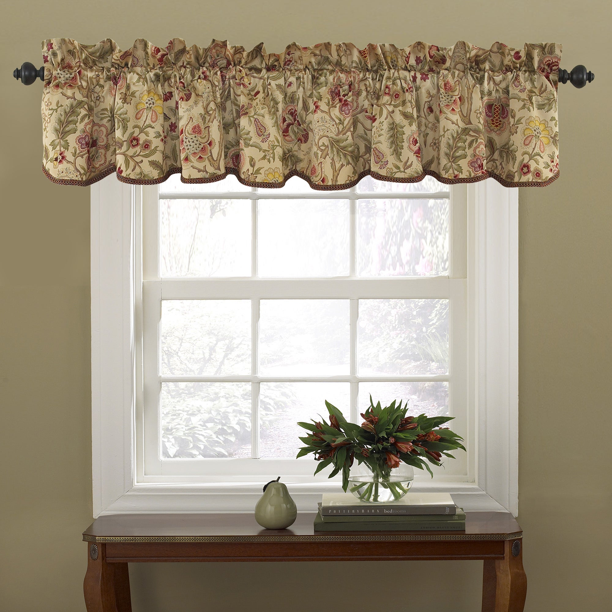 waverly ip ensemble and traditions stripe valance walmart kitchen set valances curtain valence com by