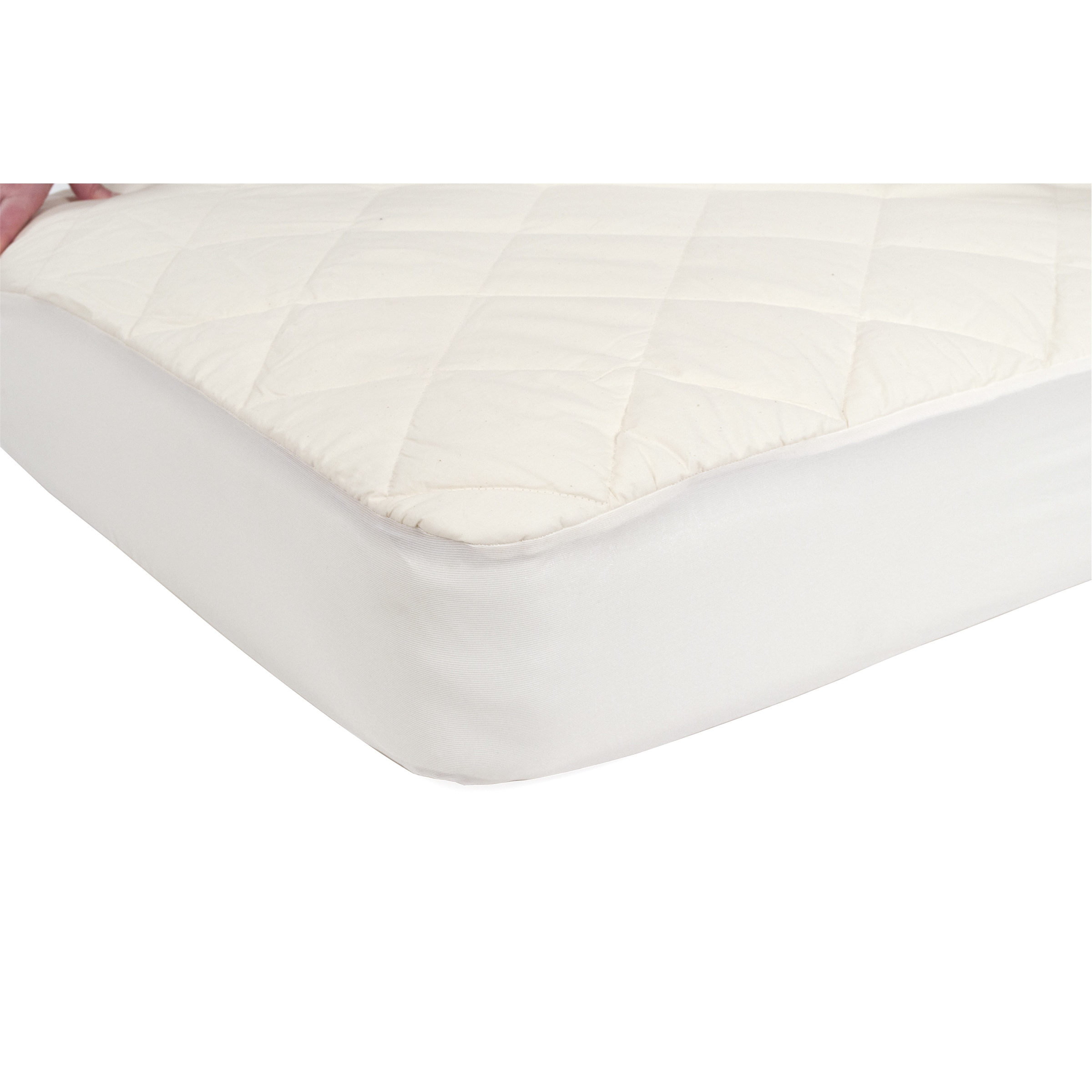 Very Helpful Crib Mattress Pad Sealy Quilted Fitted Crib Mattress Pad with Organic Cotton Top and  Waterproof Layer - Natural