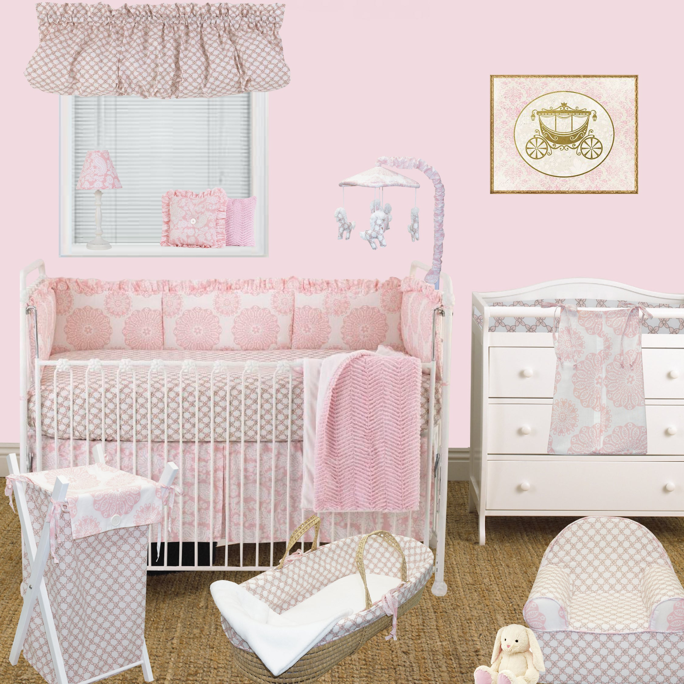 Cotton Tale Sweet And Simple Pink 8 Piece Crib Bedding Set On Free Shipping Today 16702299