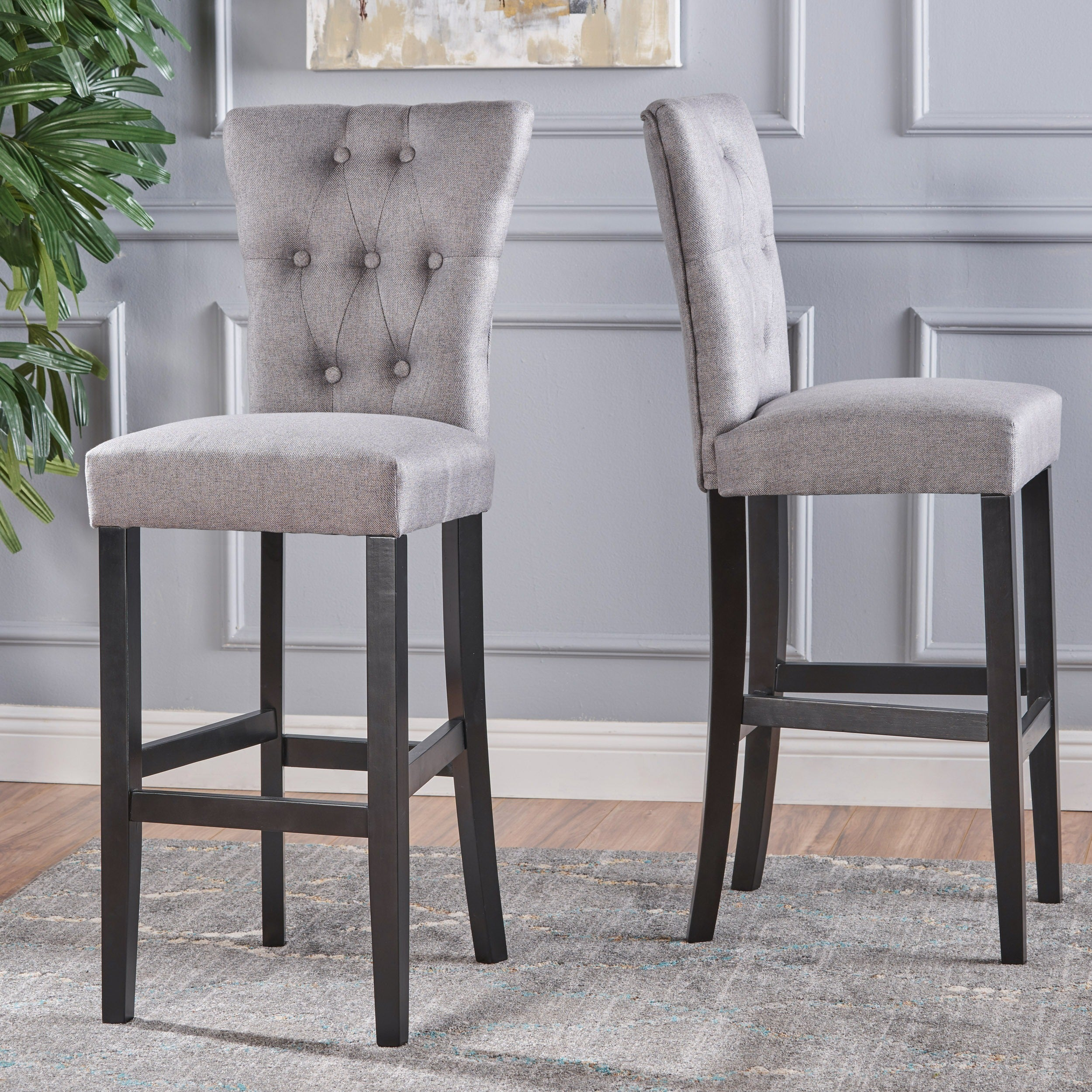 Shop pia backed fabric barstools by christopher knight home set of 2 on sale free shipping today overstock com 16718646