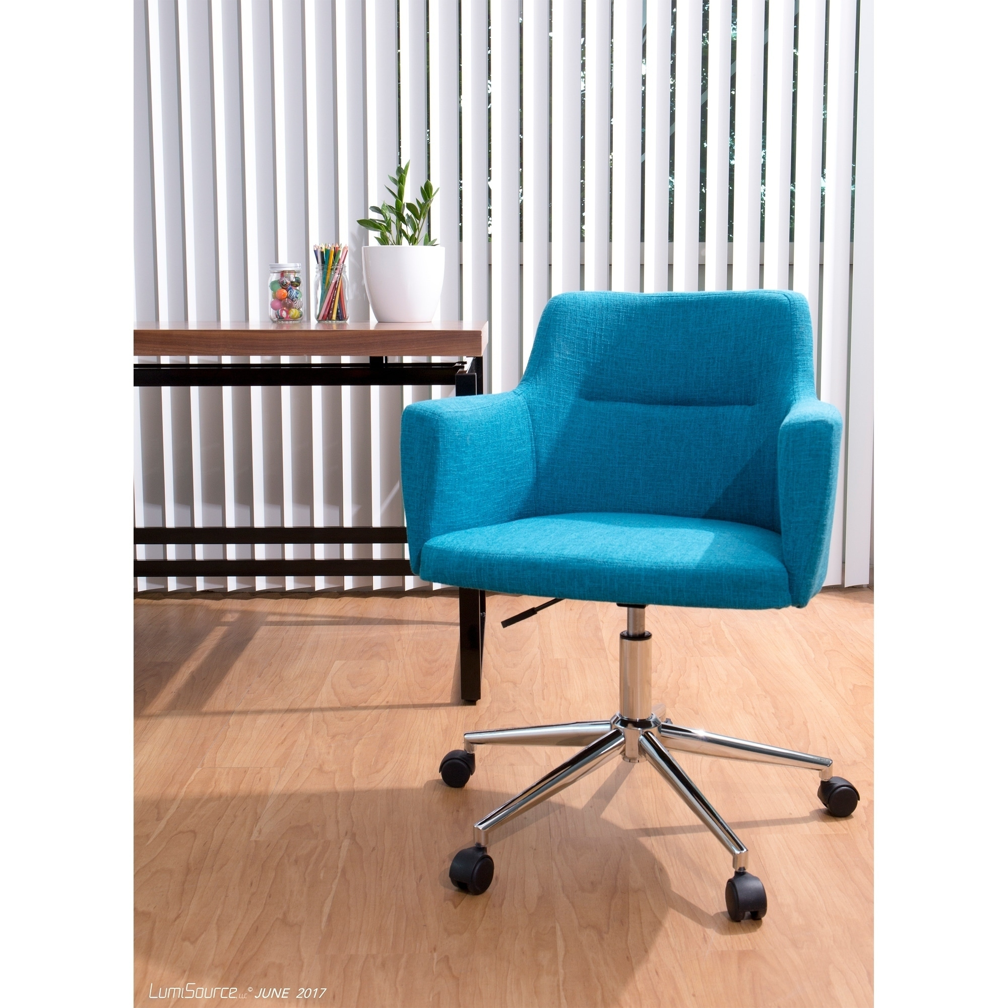 Andrew Contemporary Office Chair In Fabric Free Shipping Today 16722566
