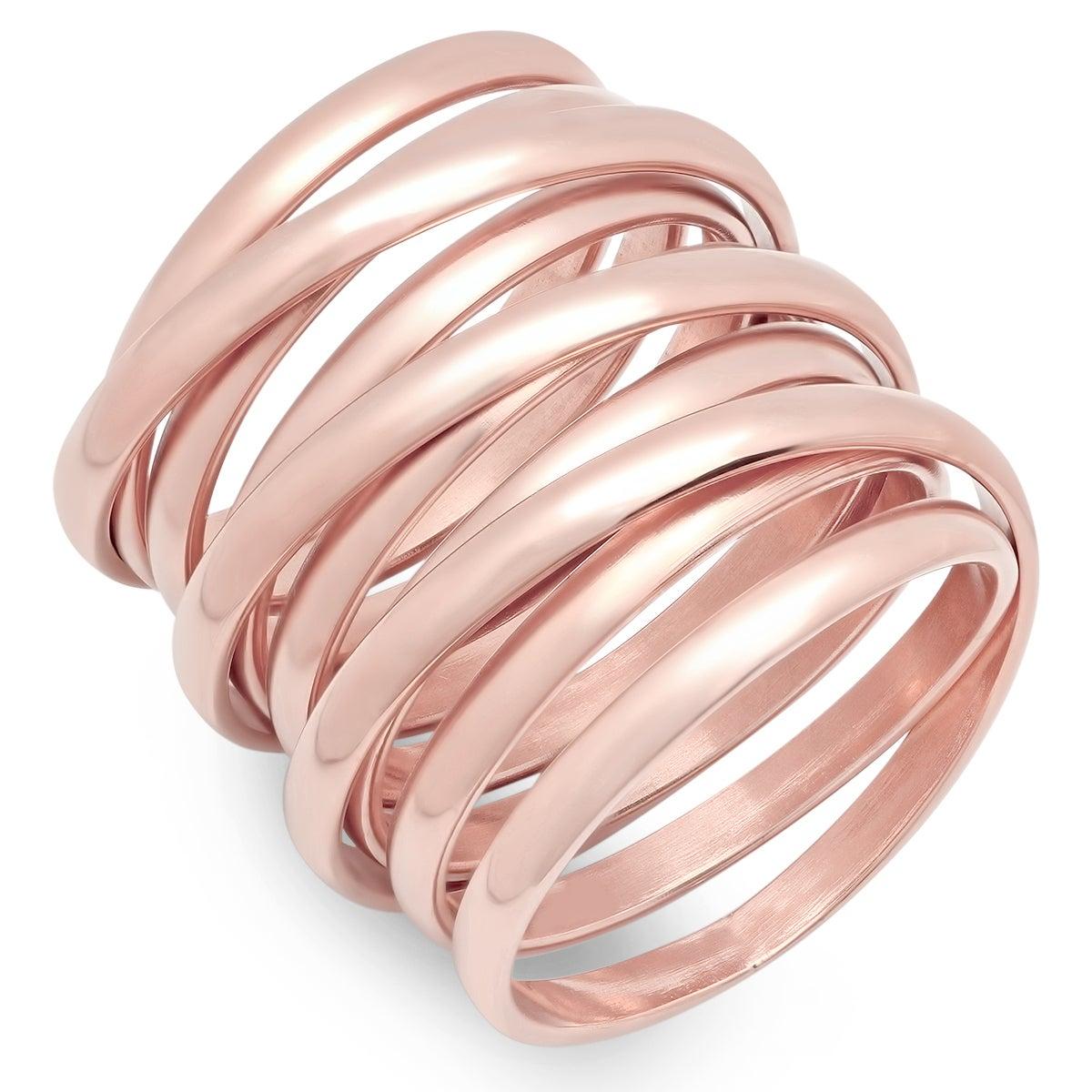 Shop Piatella Ladies Stainless Steel Multiwrap Ring in 3 colors - On ...