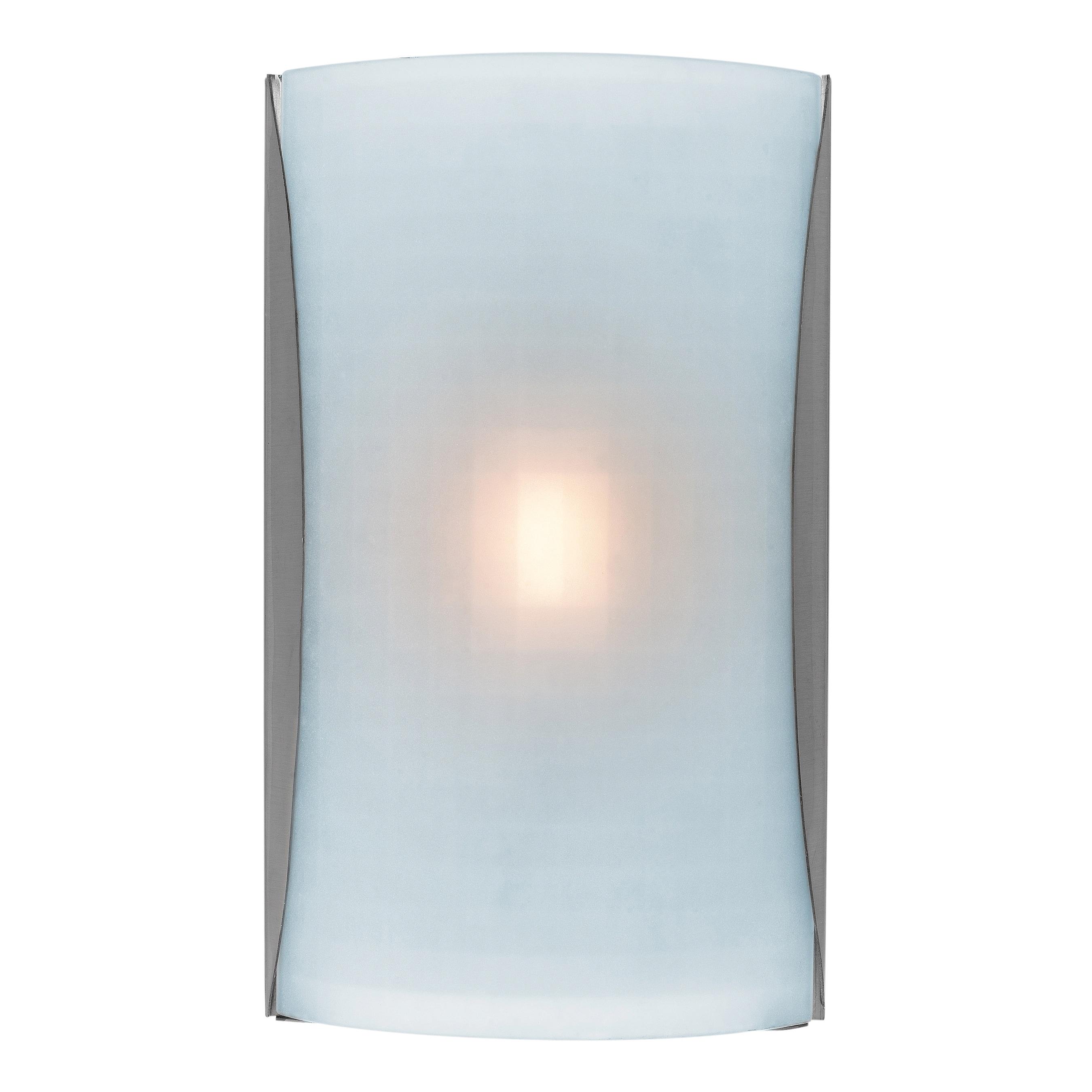 Access Lighting Radon 2-light Fluorescent Brushed Steel Wall Sconce ...