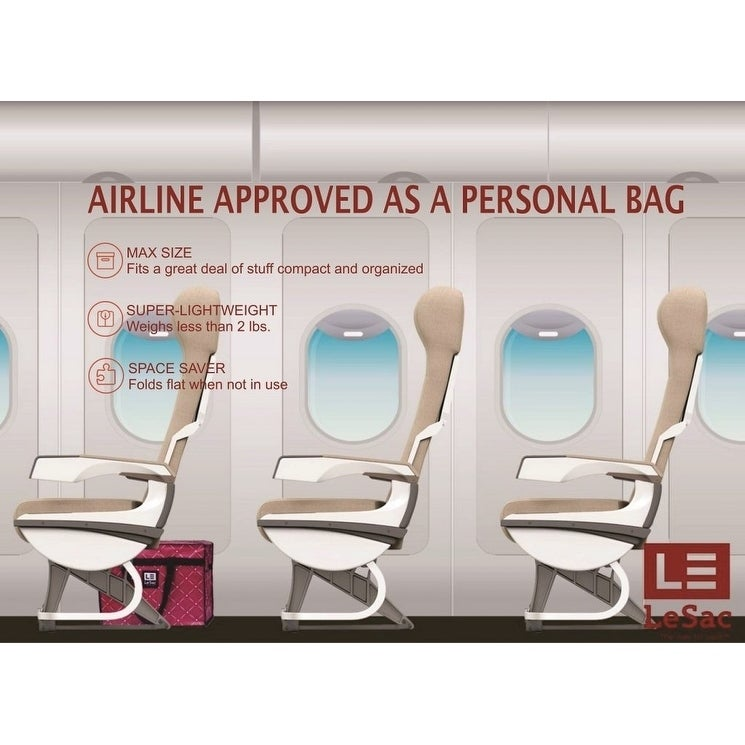 283644e1761b Shop Le Sac SUPER Lightweight Travel Bag Airline Approved Size Under-seat  Personal Bag. (Arrow Print) - Free Shipping On Orders Over  45 - Overstock  - ...