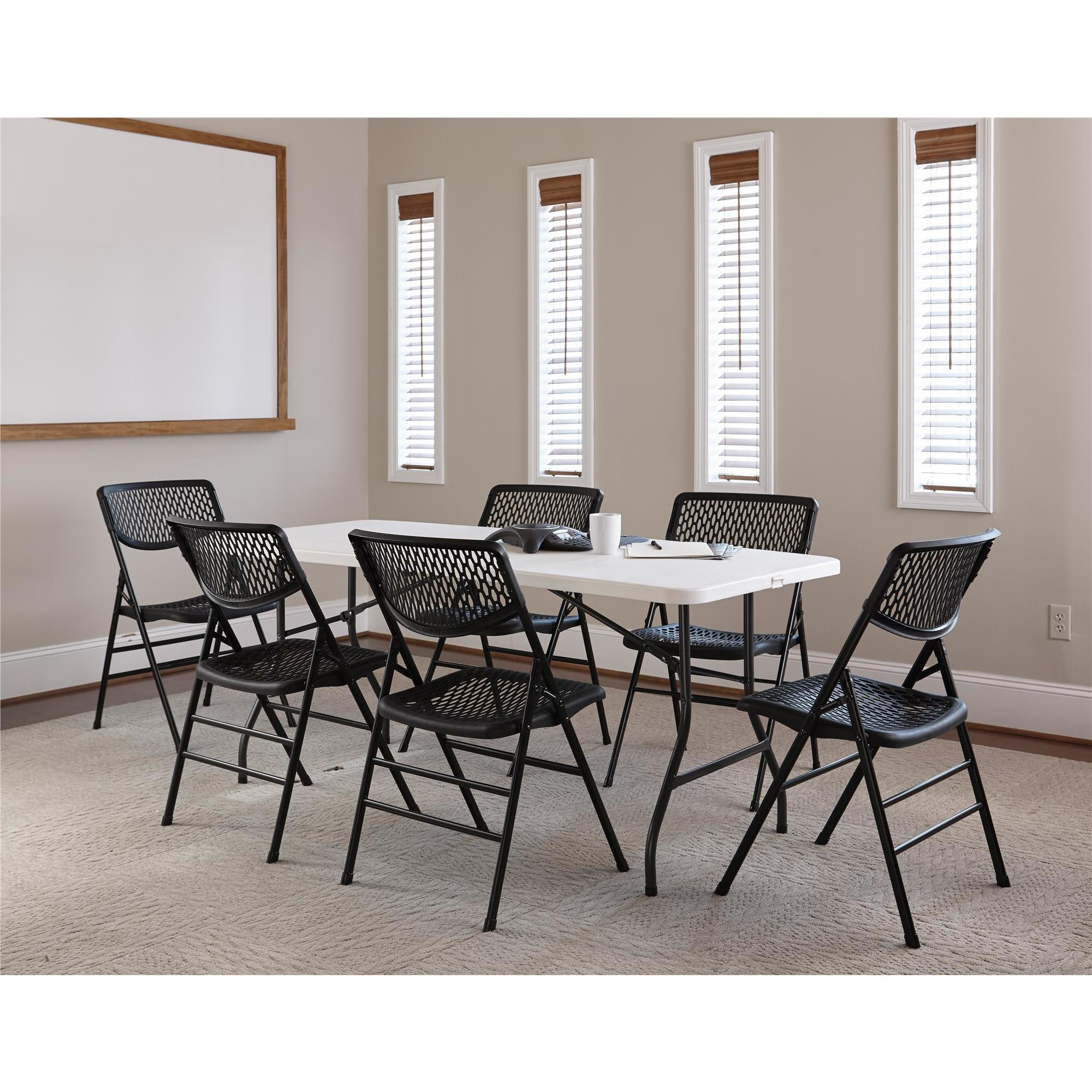 Shop COSCO Commercial Resin Mesh Folding Chair (Set of 4) - Free Shipping Today - Overstock.com - 16740429  sc 1 st  Overstock & Shop COSCO Commercial Resin Mesh Folding Chair (Set of 4) - Free ...