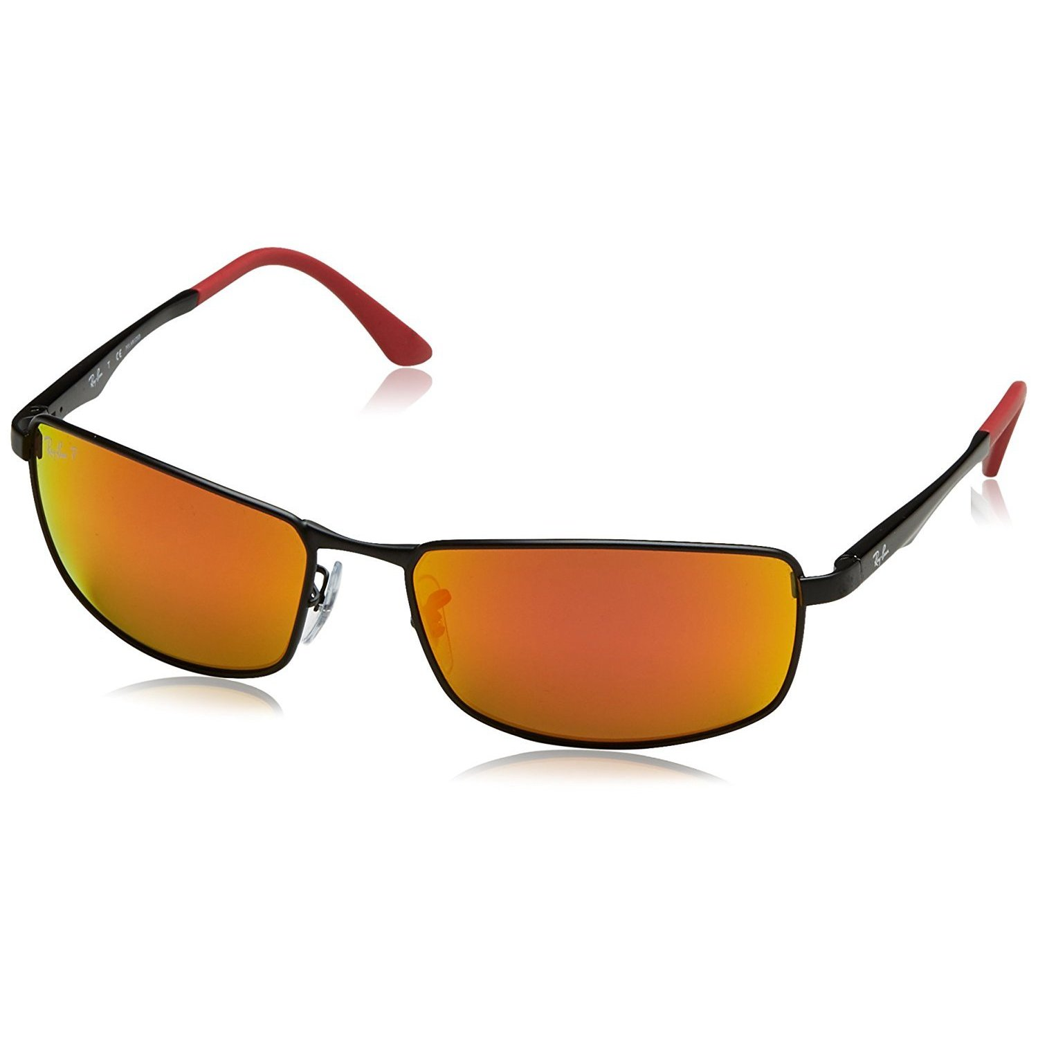 85967739e3 Shop Ray-Ban Unisex RB3498 006 6S Black Frame Polarized Orange Flash 61 mm  Lens Sunglasses - Free Shipping Today - Overstock - 16740913