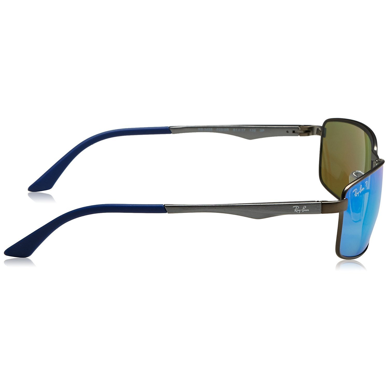 43cecf3dbb Shop Ray-Ban Men s RB3498 029 9R Gunmetal Frame Polarized Blue Flash 61 mm  Lens Sunglasses - Free Shipping Today - Overstock - 16740916