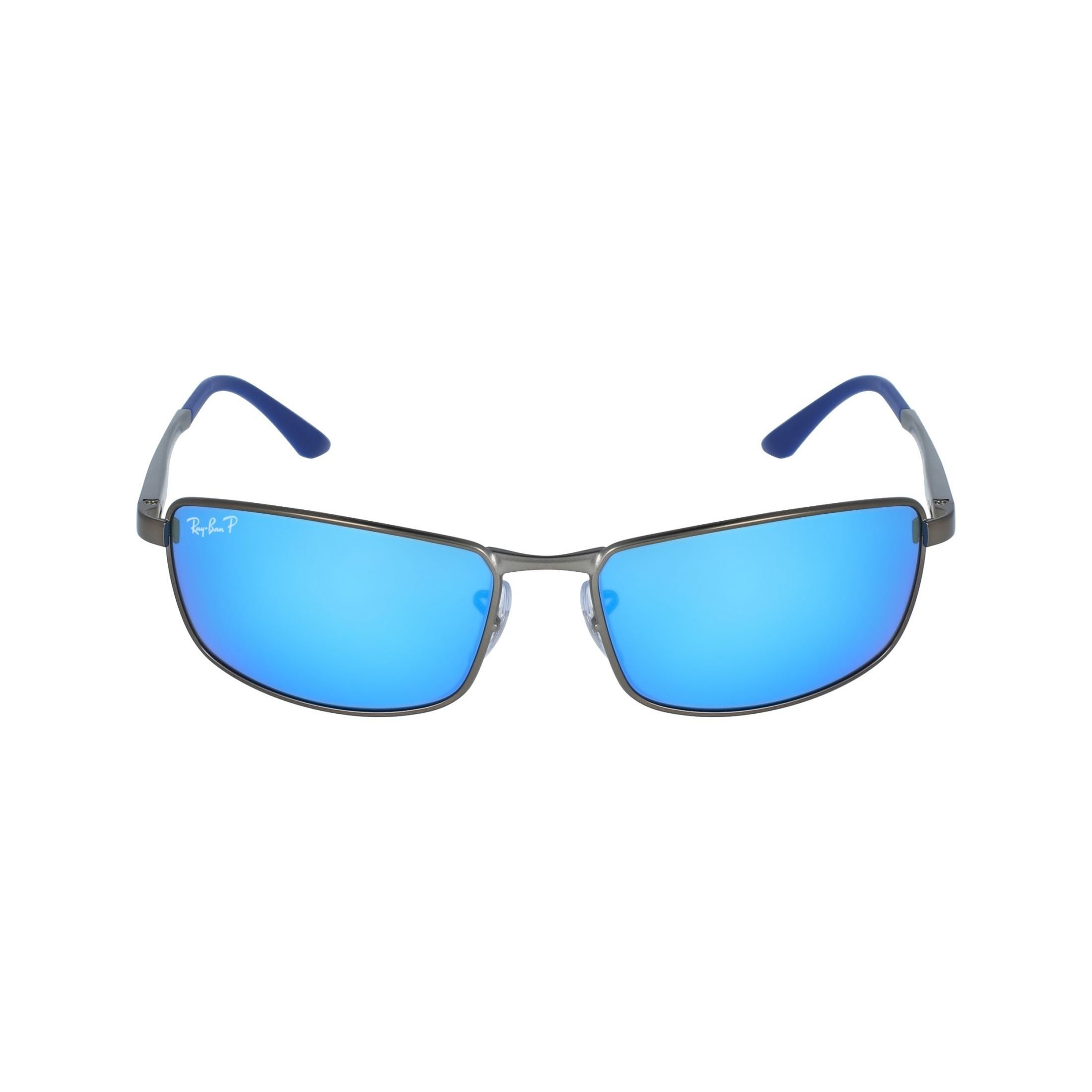 9249d1ae80 Shop Ray-Ban Men s RB3498 029 9R Gunmetal Frame Polarized Blue Flash 61 mm  Lens Sunglasses - Free Shipping Today - Overstock - 16740916