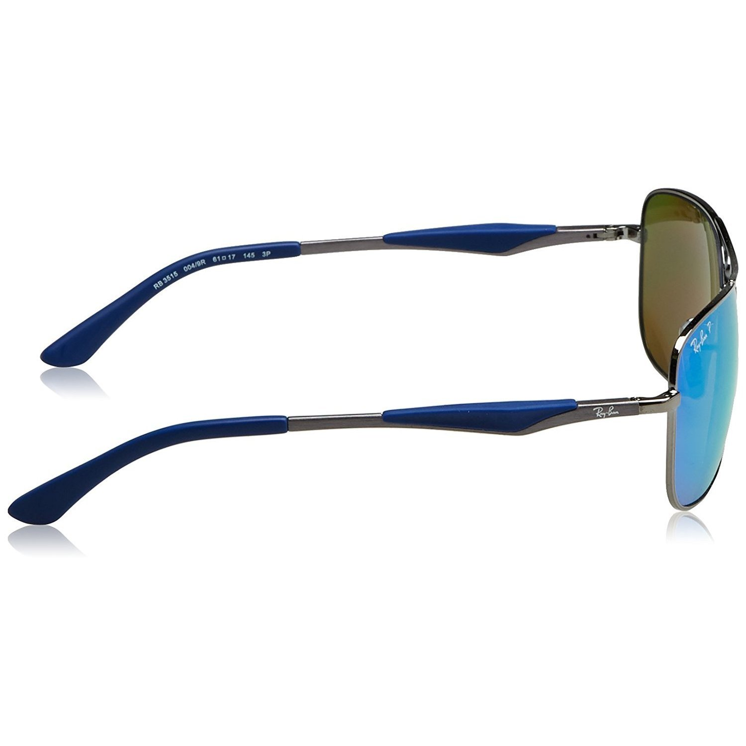 36e197784e Shop Ray-Ban Men s RB3515 004 9R Gunmetal Frame Polarized Blue Flash 61 mm Lens  Sunglasses - Free Shipping Today - Overstock - 16740926