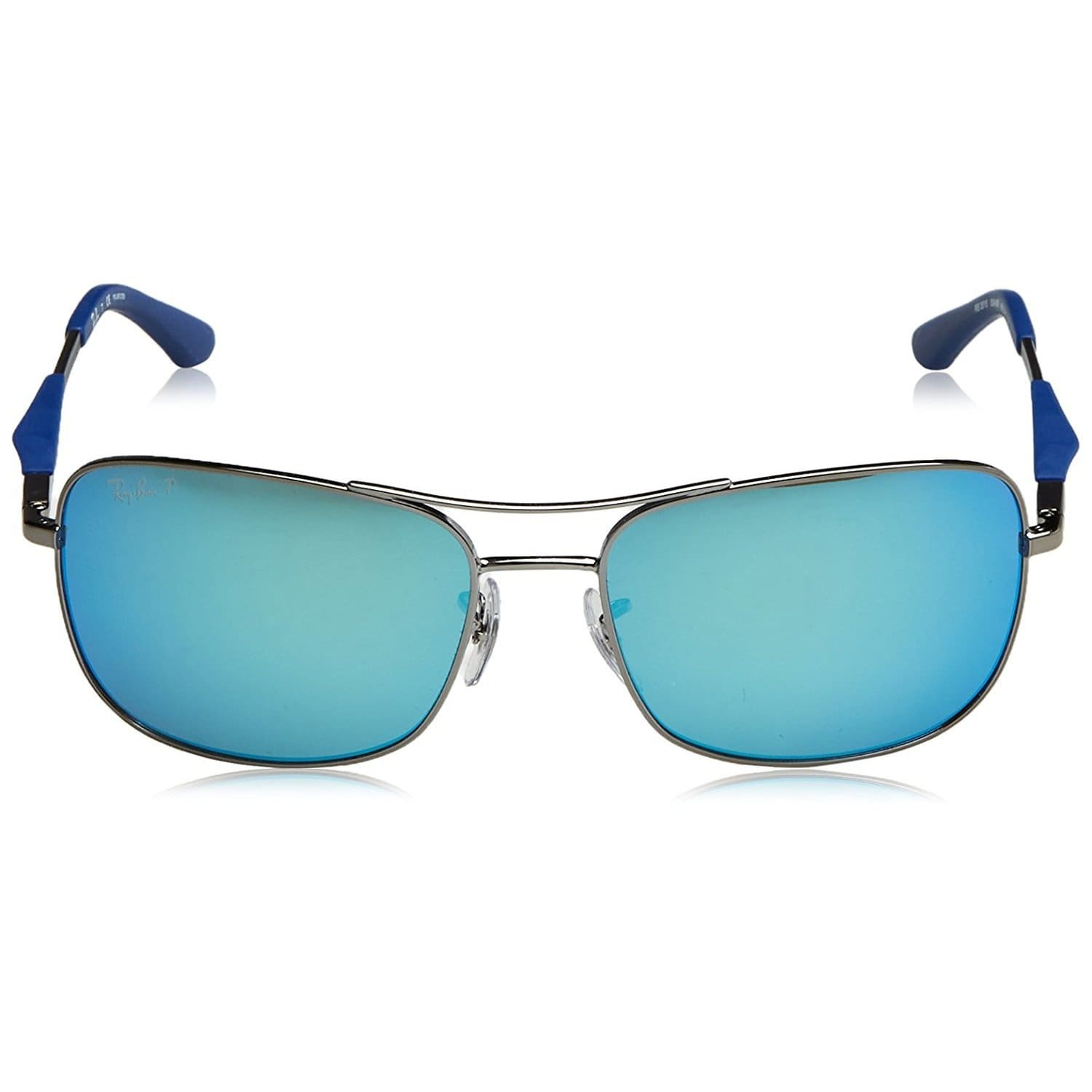 d1a0d02789 Shop Ray-Ban Men s RB3515 004 9R Gunmetal Frame Polarized Blue Flash 61 mm  Lens Sunglasses - Free Shipping Today - Overstock - 16740926
