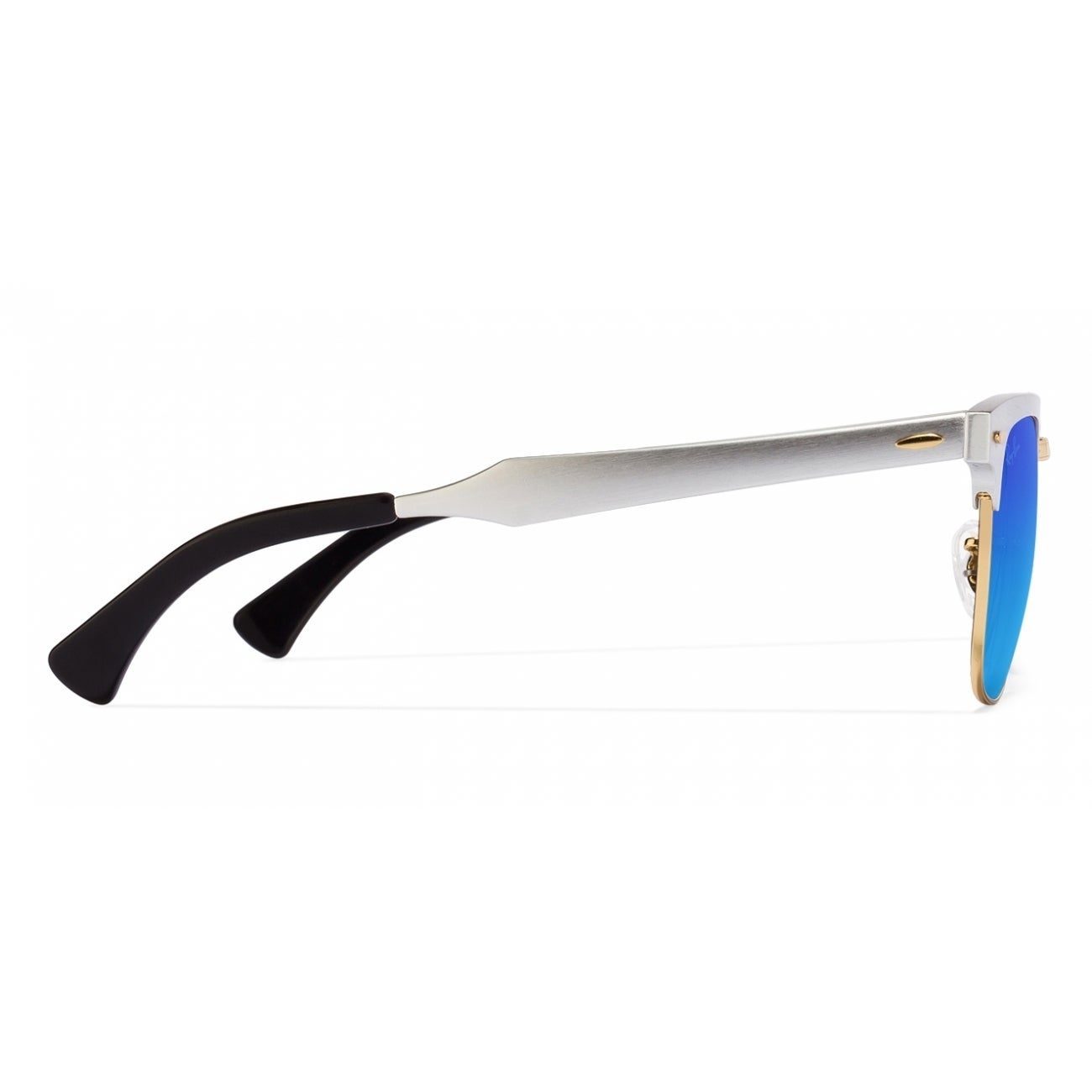 1f54487112 Shop Ray-Ban Unisex RB3507 137 7Q Clubmaster Silver Frame Blue Gradient  Flash 51 mm Lens Sunglasses - Free Shipping Today - Overstock - 16740929