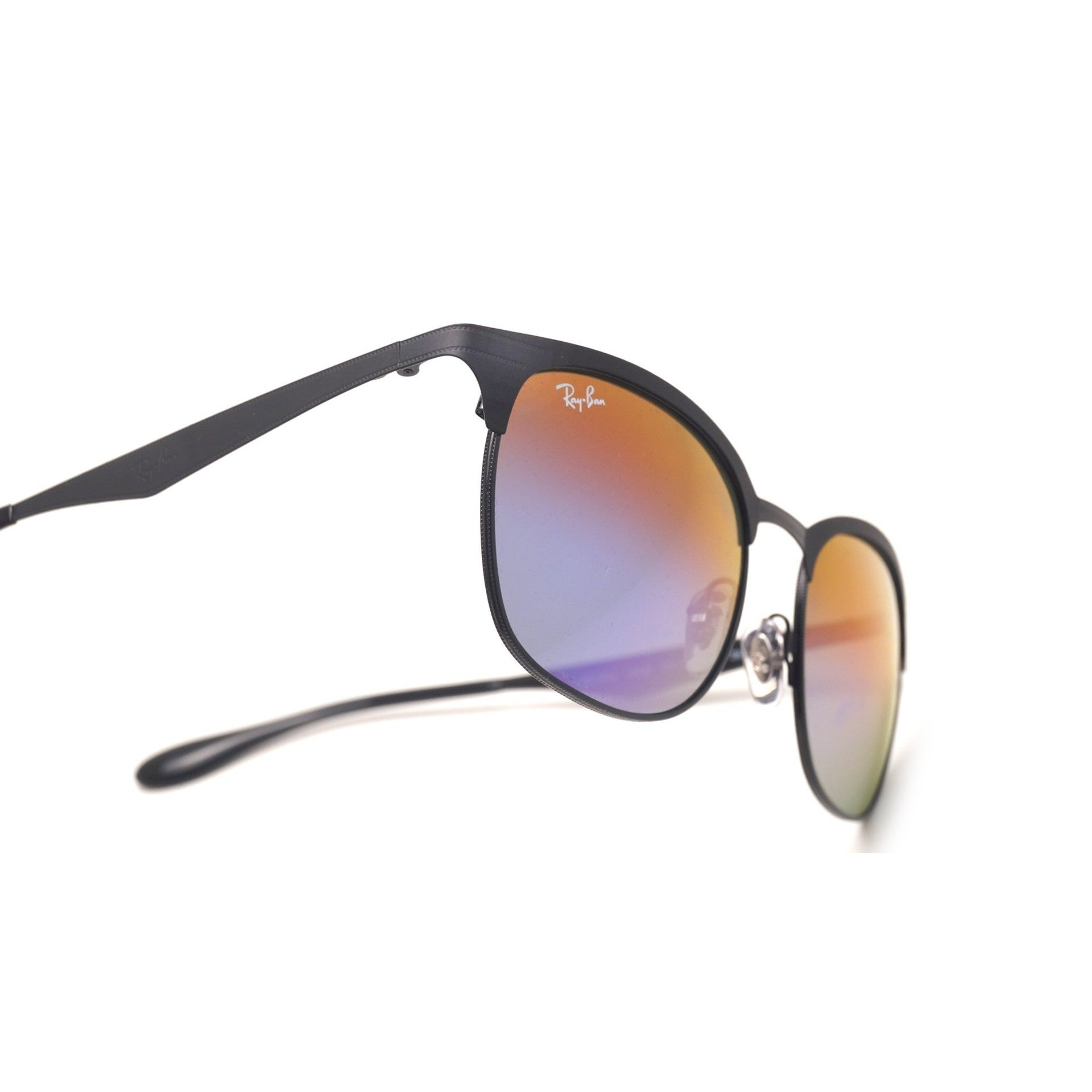 9de23b97bed Shop Ray-Ban Men s RB3538 186 B1 Black Frame Blue Violet Gradient Mirror 53  mm Lens Sunglasses - Free Shipping Today - Overstock - 16741057
