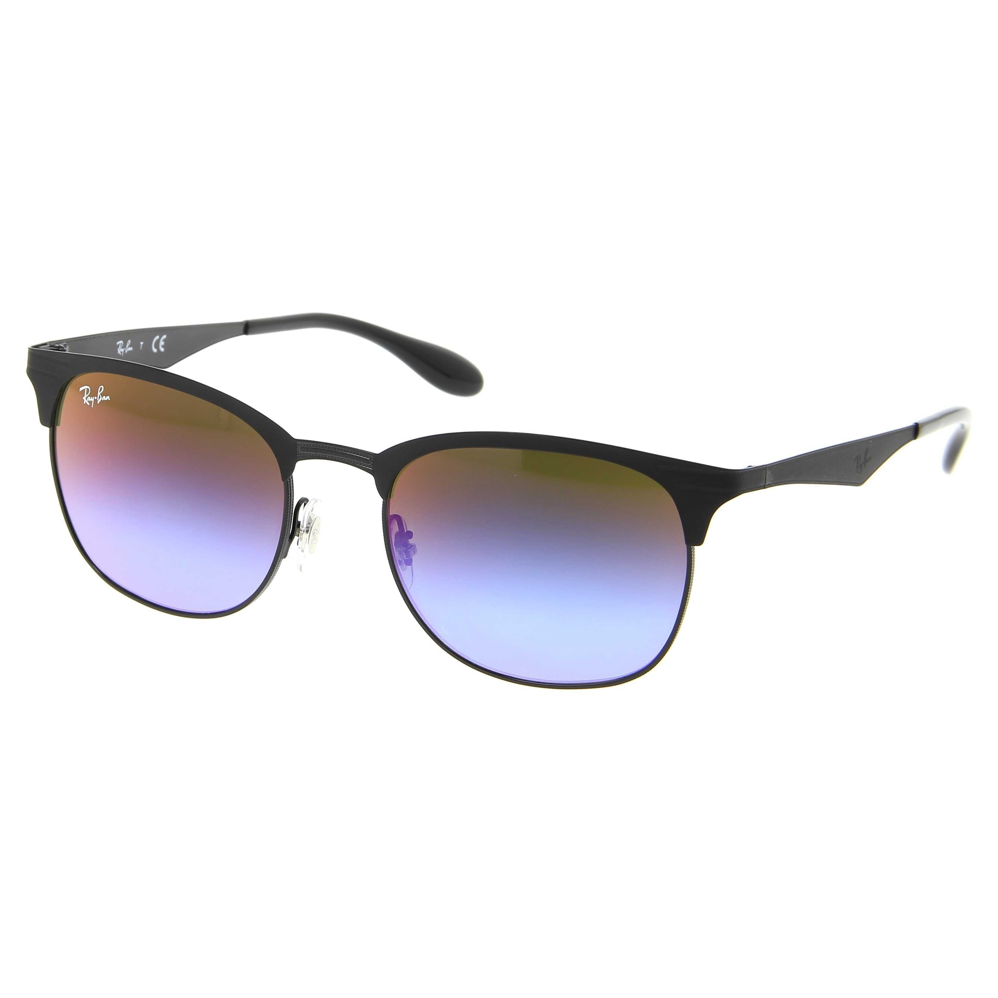 464f8ed6f5 Shop Ray-Ban Men s RB3538 186 B1 Black Frame Blue Violet Gradient Mirror 53  mm Lens Sunglasses - Free Shipping Today - Overstock - 16741057