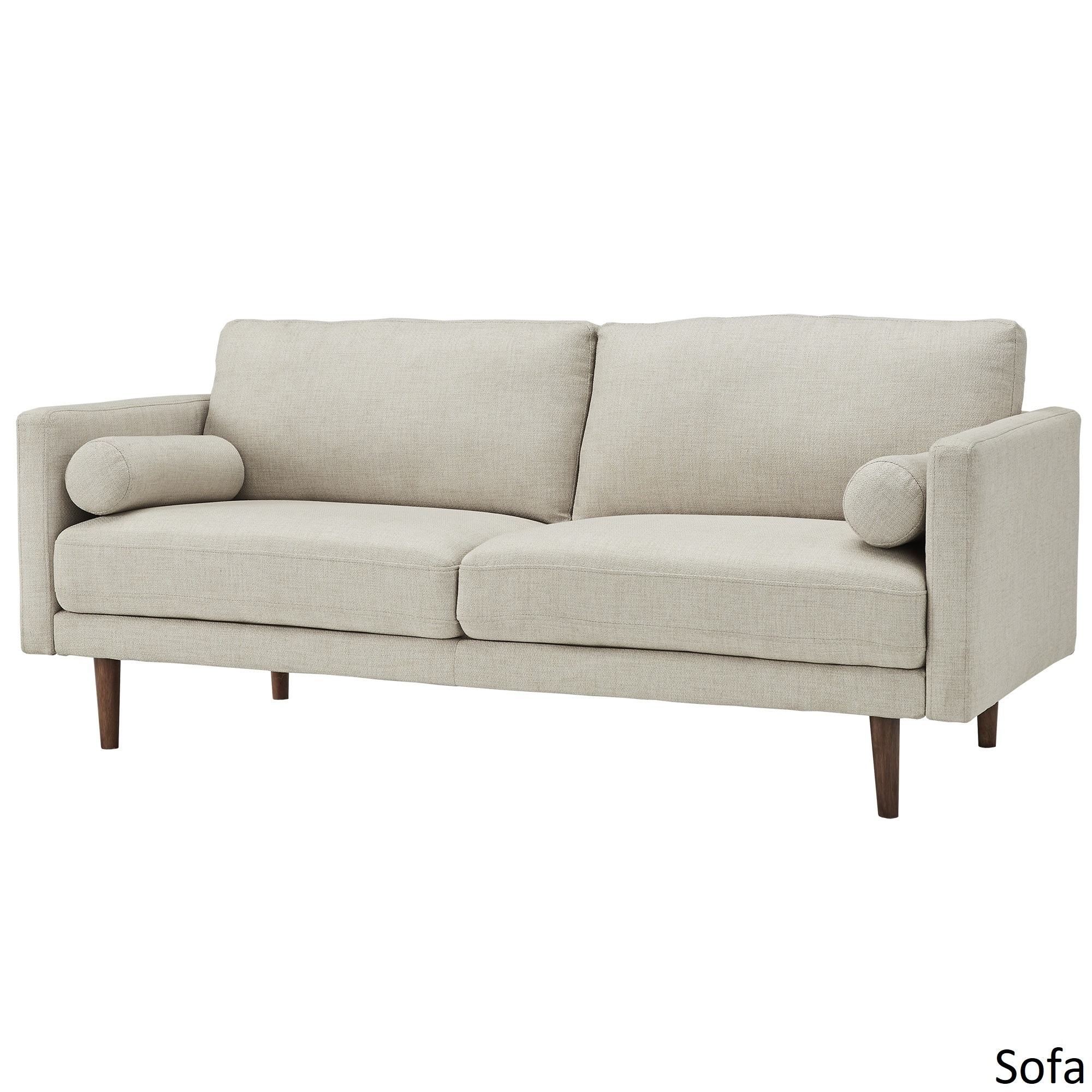 Shop Oana Oatmeal Mid Century Tapered Leg Seating Collection With Pillows  By INSPIRE Q Modern   On Sale   Free Shipping Today   Overstock.com    16741289