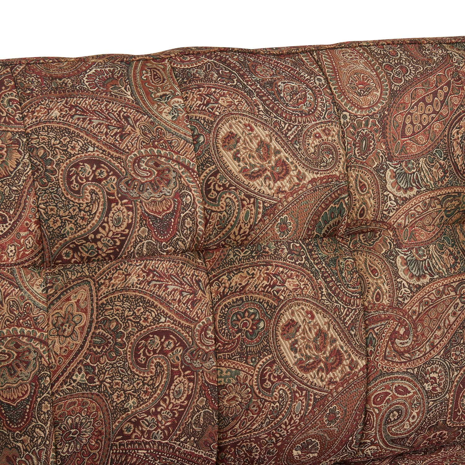 Elegant Handy Living Victoria SoFast Sofa In A Mix Of Paisley Fabric And Saddle  Brown Distressed Faux Leather   Free Shipping Today   Overstock   23053575
