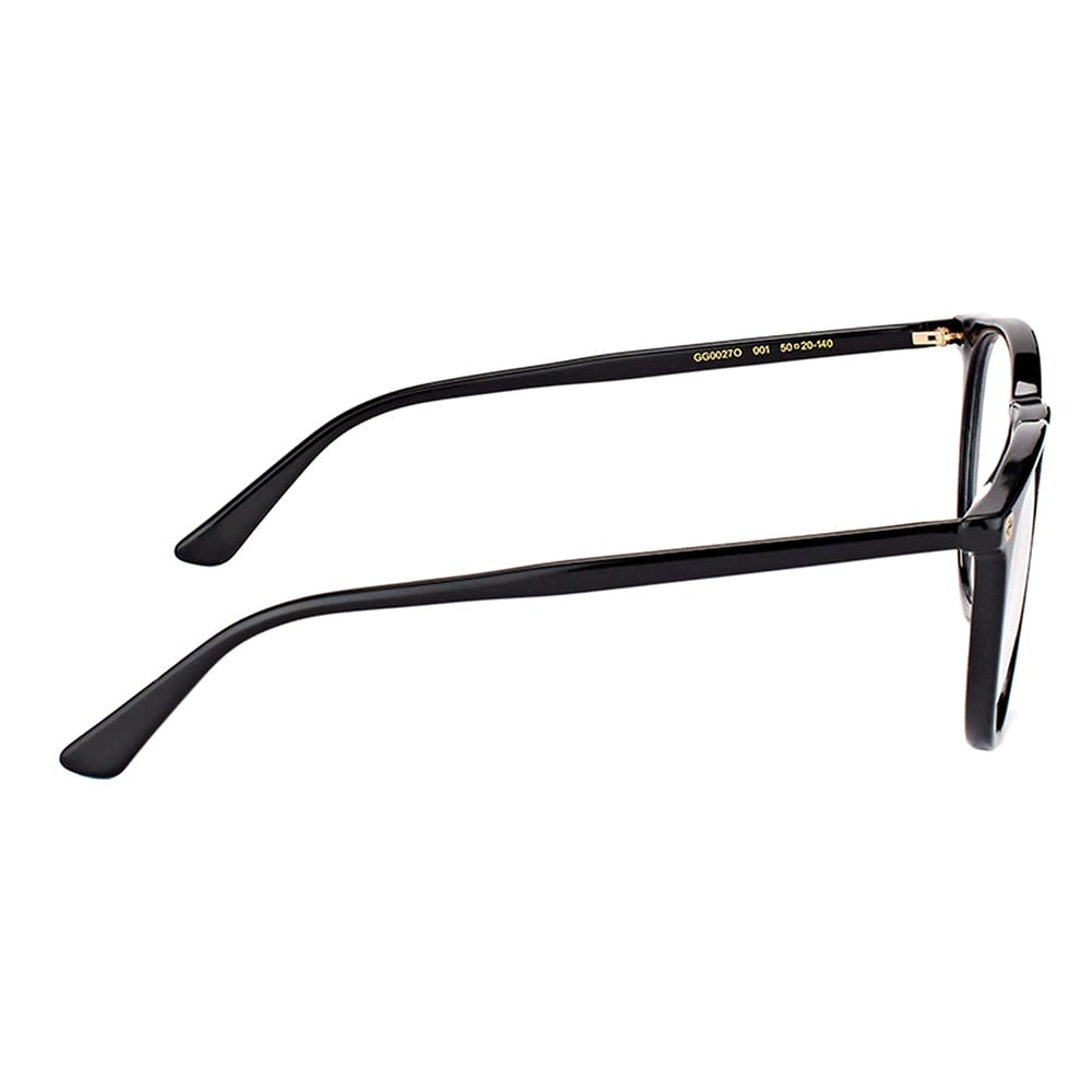 5999fd5599b Shop Gucci GG 0027O 001 Black Plastic Round Eyeglasses 50mm - Free Shipping  Today - Overstock - 16741989
