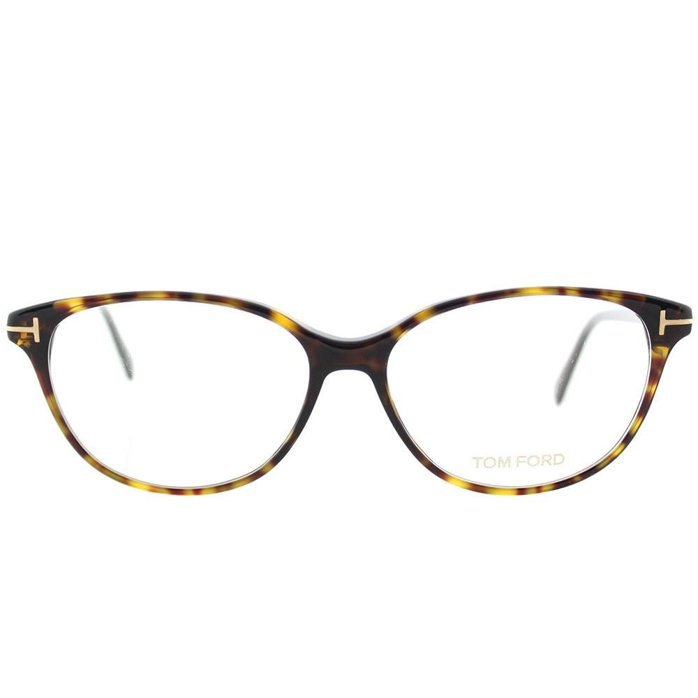 623cb98e141a1 Shop Tom Ford FT 5421 052 Soft Cat-Eye Dark Havana Plastic Cat-Eye  Eyeglasses 53mm - Free Shipping Today - Overstock - 16742044