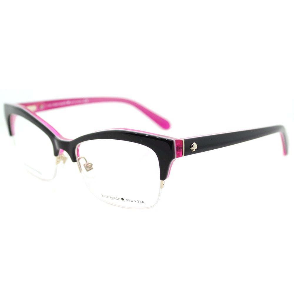 8fb2fe5f73 Shop Kate Spade KS Lyssa W52 Black Floures Pink Plastic Cat-Eye Eyeglasses  51mm - Free Shipping Today - Overstock.com - 16742153