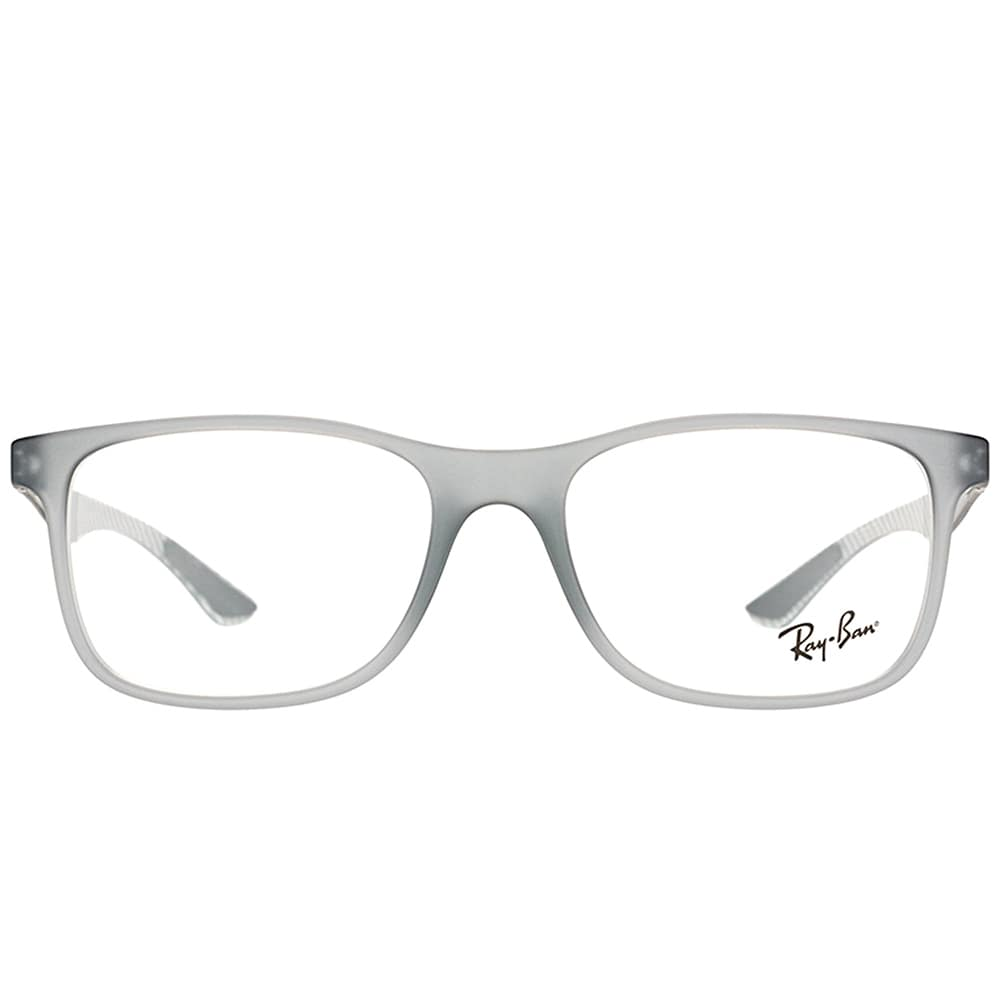 bec54c44a4 Shop Ray-Ban RX 8903 5244 Matte Transparent Grey Plastic Square Eyeglasses  55mm - Free Shipping Today - Overstock - 16742182