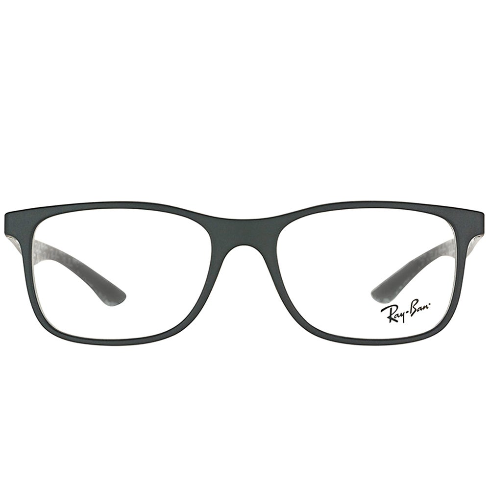 c3ed984c886 Shop Ray-Ban RX 8903 5263 Matte Black Plastic Square Eyeglasses 55mm - Free  Shipping Today - Overstock - 16742185