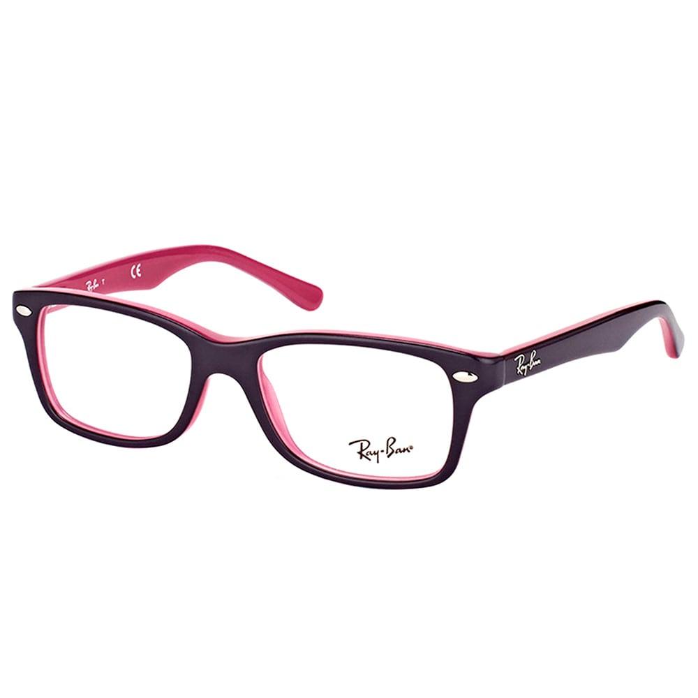af3b4073df6 Ray-Ban RY 1531 3702 Violet On Fuschia Plastic Square Eyeglasses 48mm