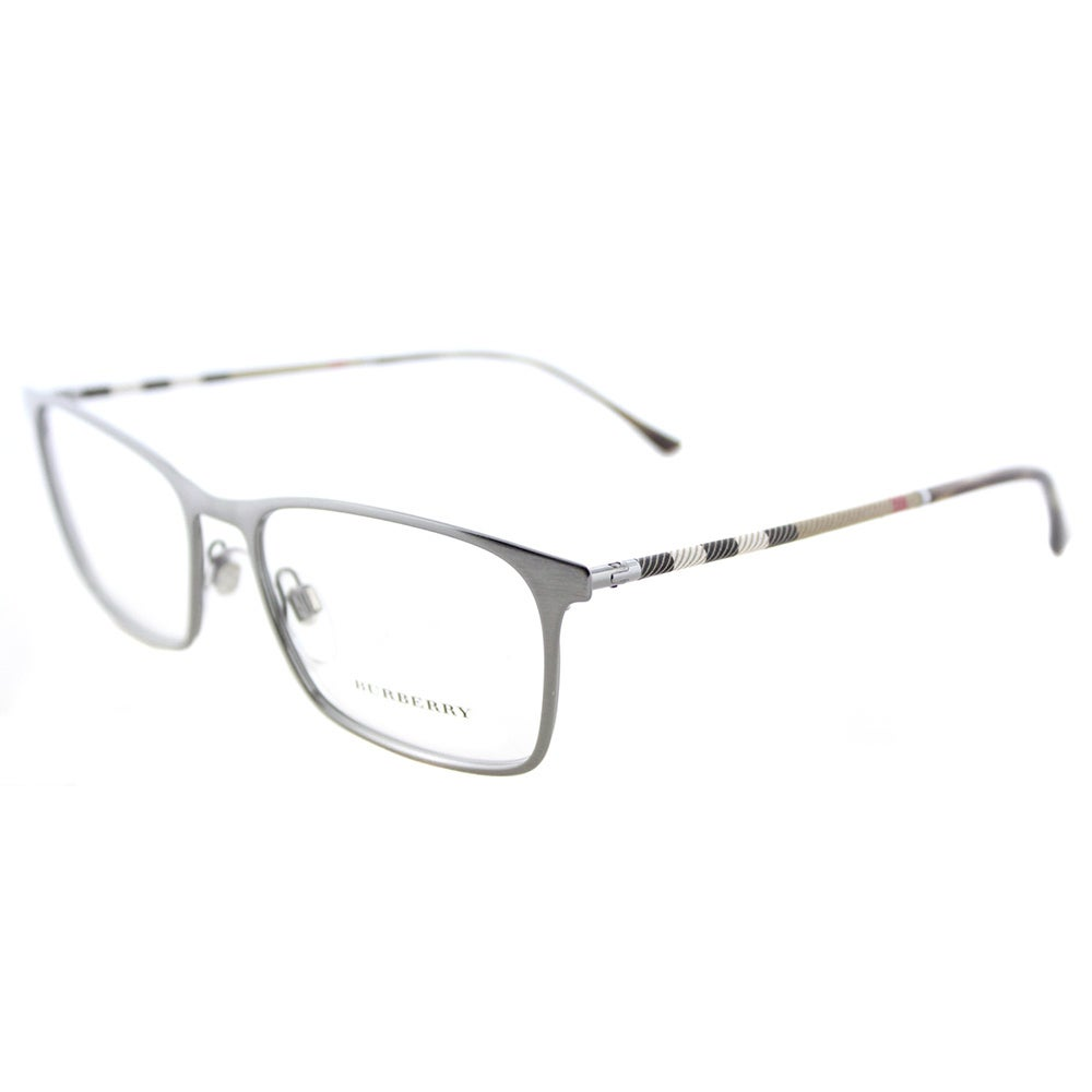 d772244d13f1 Shop Burberry BE 1309Q 1008 Brushed Gunmetal Metal Rectangle Eyeglasses  54mm - Free Shipping Today - Overstock - 16742191