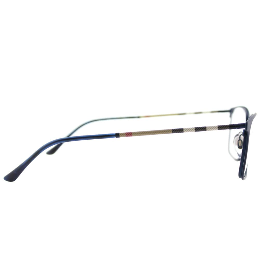 3b0802b3cde7 Shop Burberry BE 1309Q 1224 Blue Rubber Metal Rectangle Eyeglasses 54mm -  Free Shipping Today - Overstock - 16742193