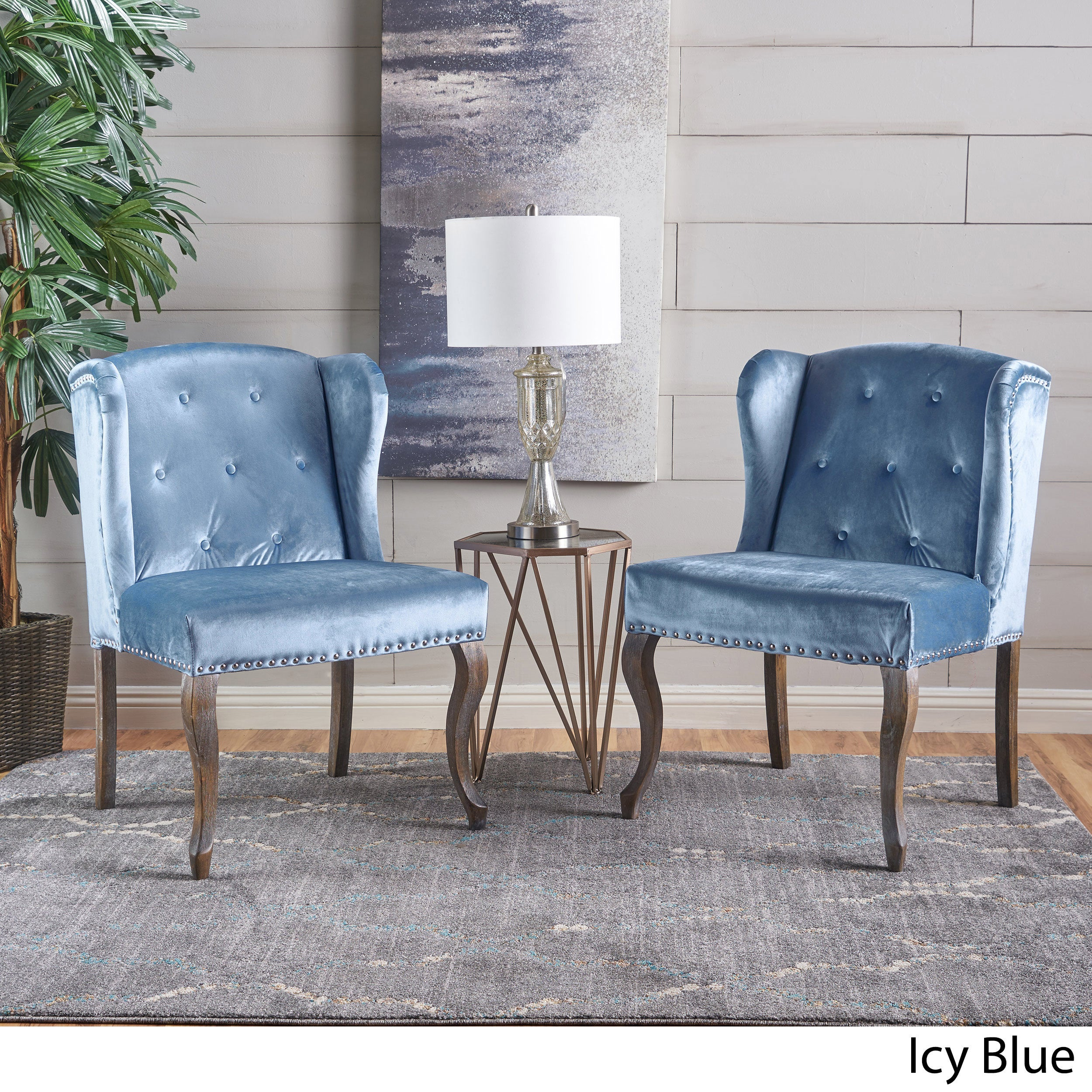 Beau Shop Niclas Velvet Wingback Chair (Set Of 2) By Christopher Knight Home    On Sale   Free Shipping Today   Overstock.com   16742330