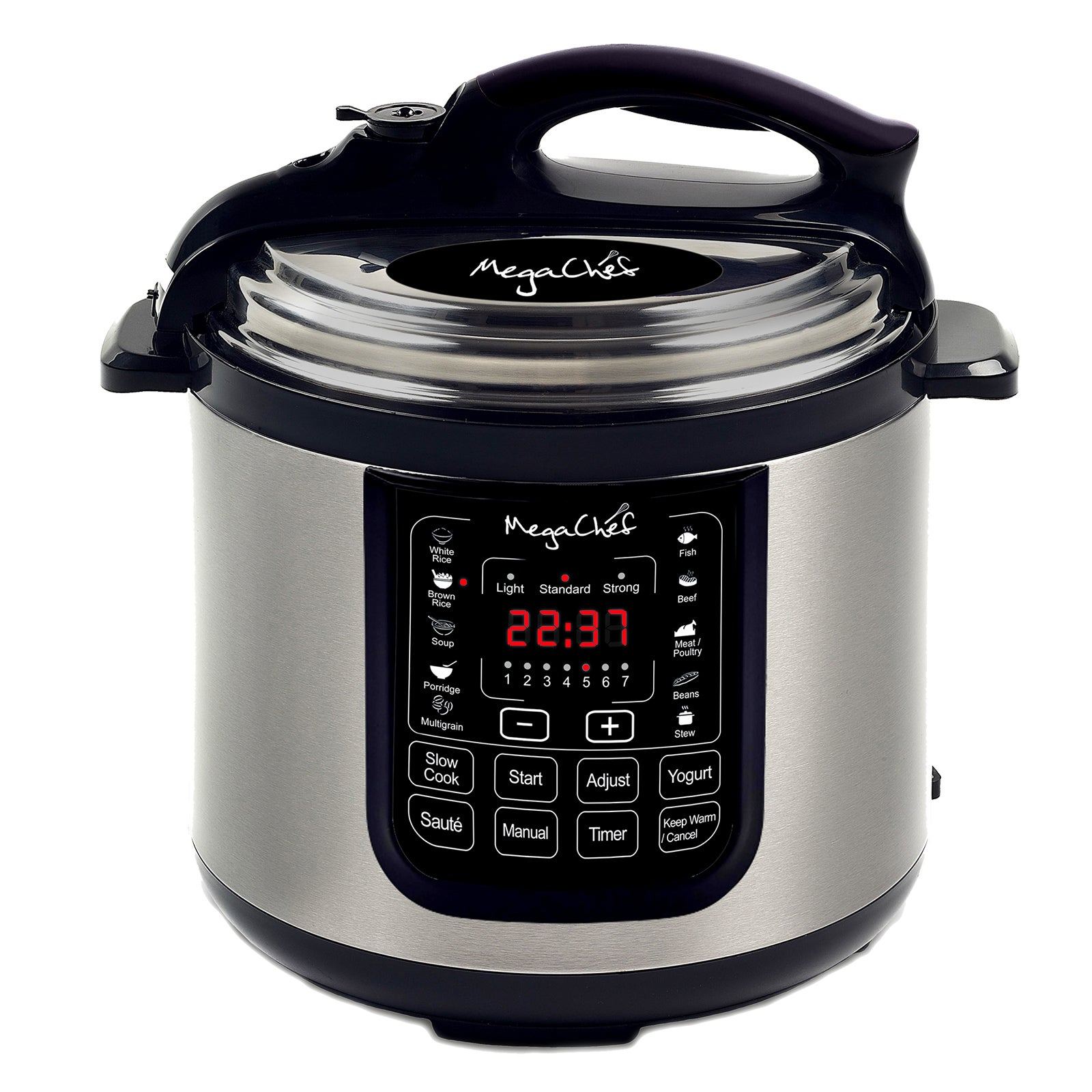 Megachef 8 Quart Digital Pressure Cooker With 13 Pre Set Multi Function Features