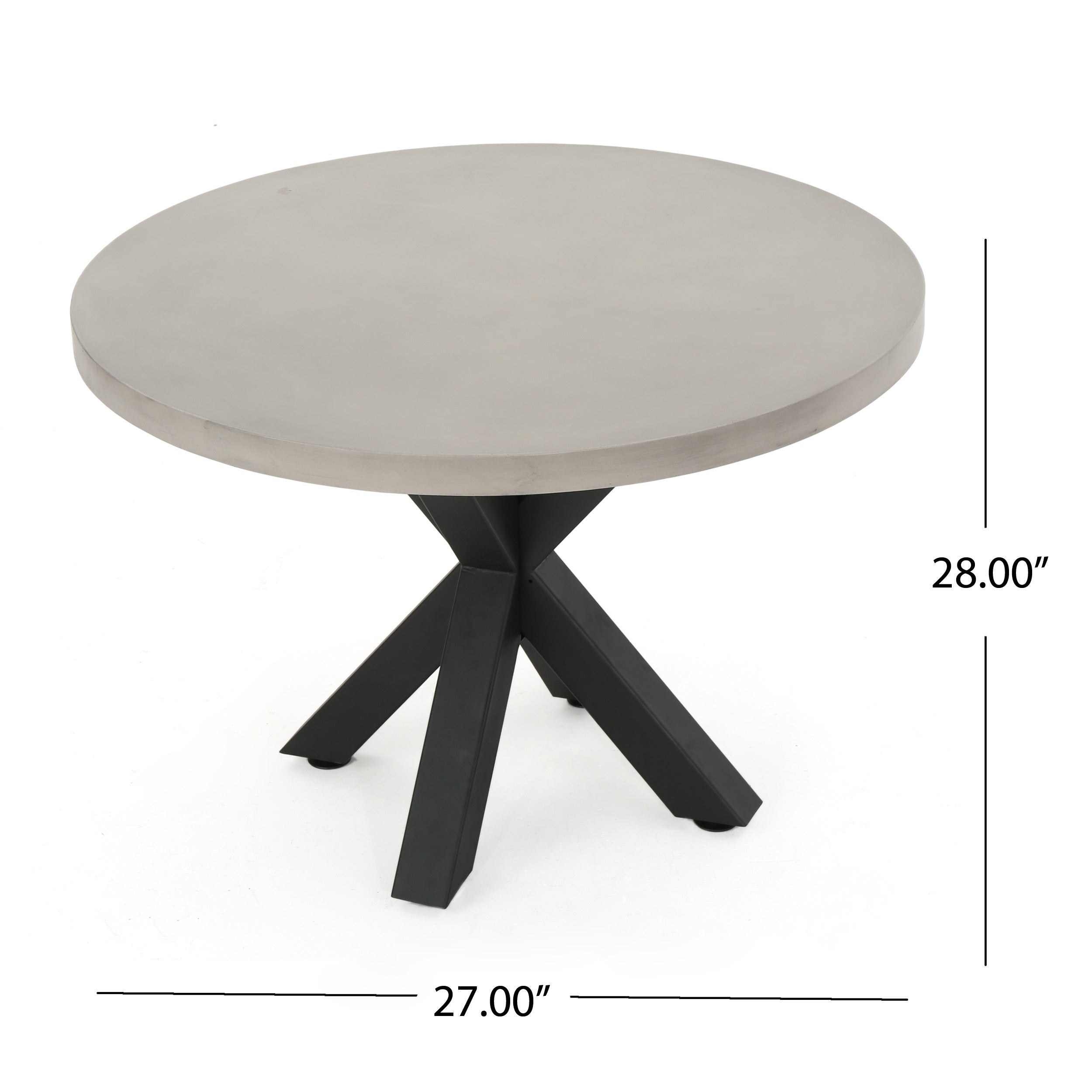 Shop Teague Outdoor Round Light Weight Concrete Dining Table By Christopher  Knight Home   Free Shipping Today   Overstock.com   16743283
