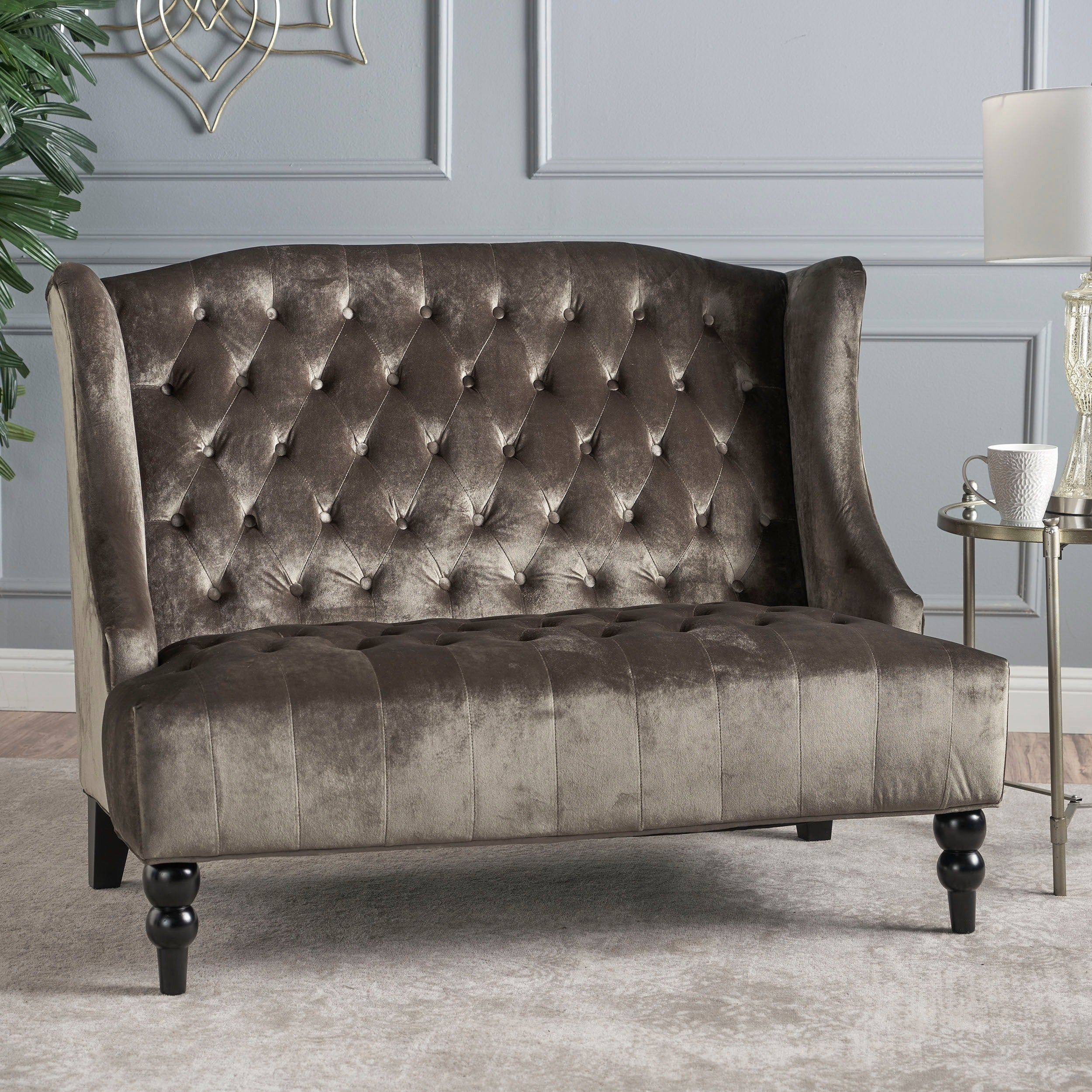 christopher product fabric knight today garden overstock free home tufted loveseat by faye classical shipping cushion single