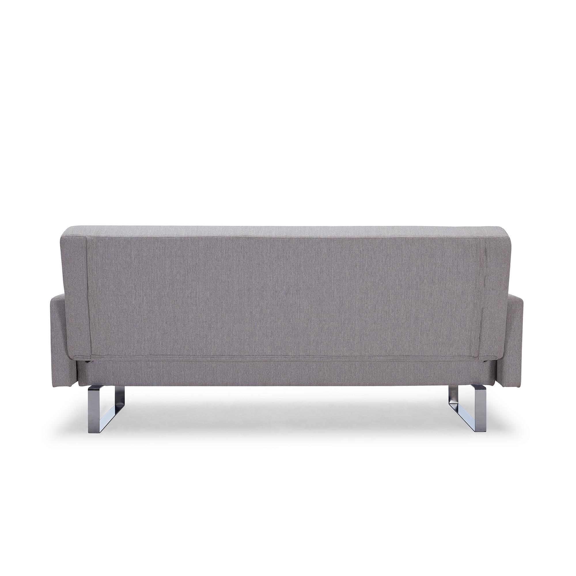Shop Handy Living Springfield Dove Grey Linen Click Clack Futon Sofa
