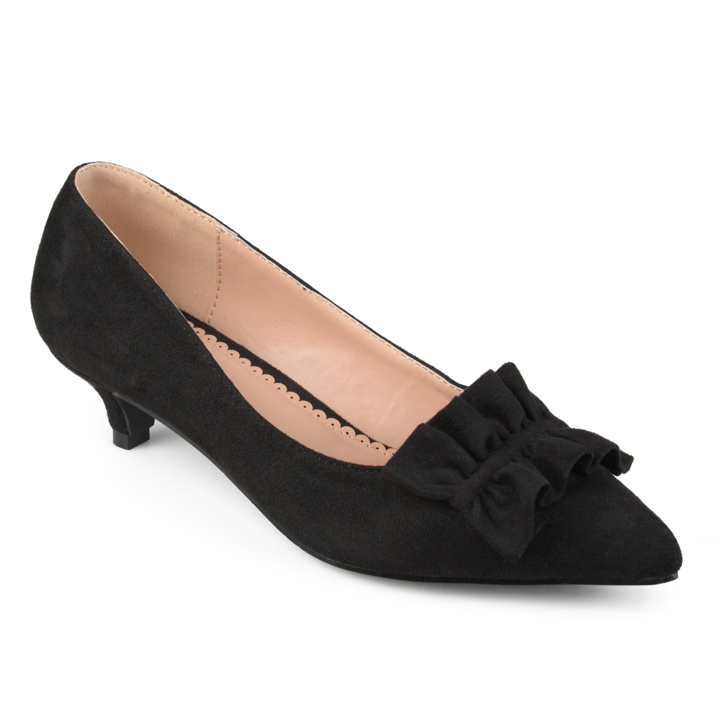 009b31fe4c1 Journee Collection Women's 'Sabree' Ruffle Faux Suede Kitten Heels
