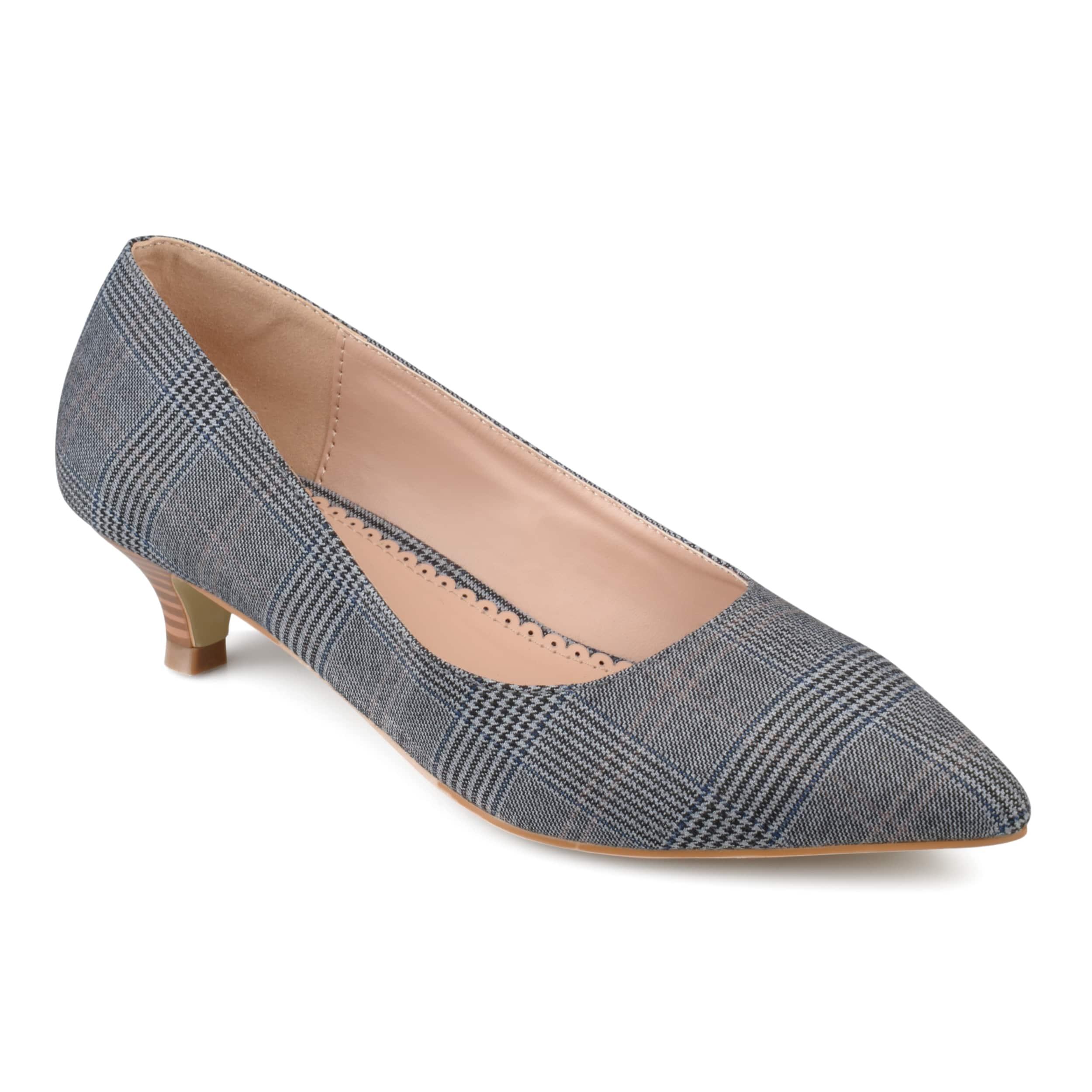 Journee Collection Women's 'Bohme' Pointed Toe Kitten Heels - Free ...