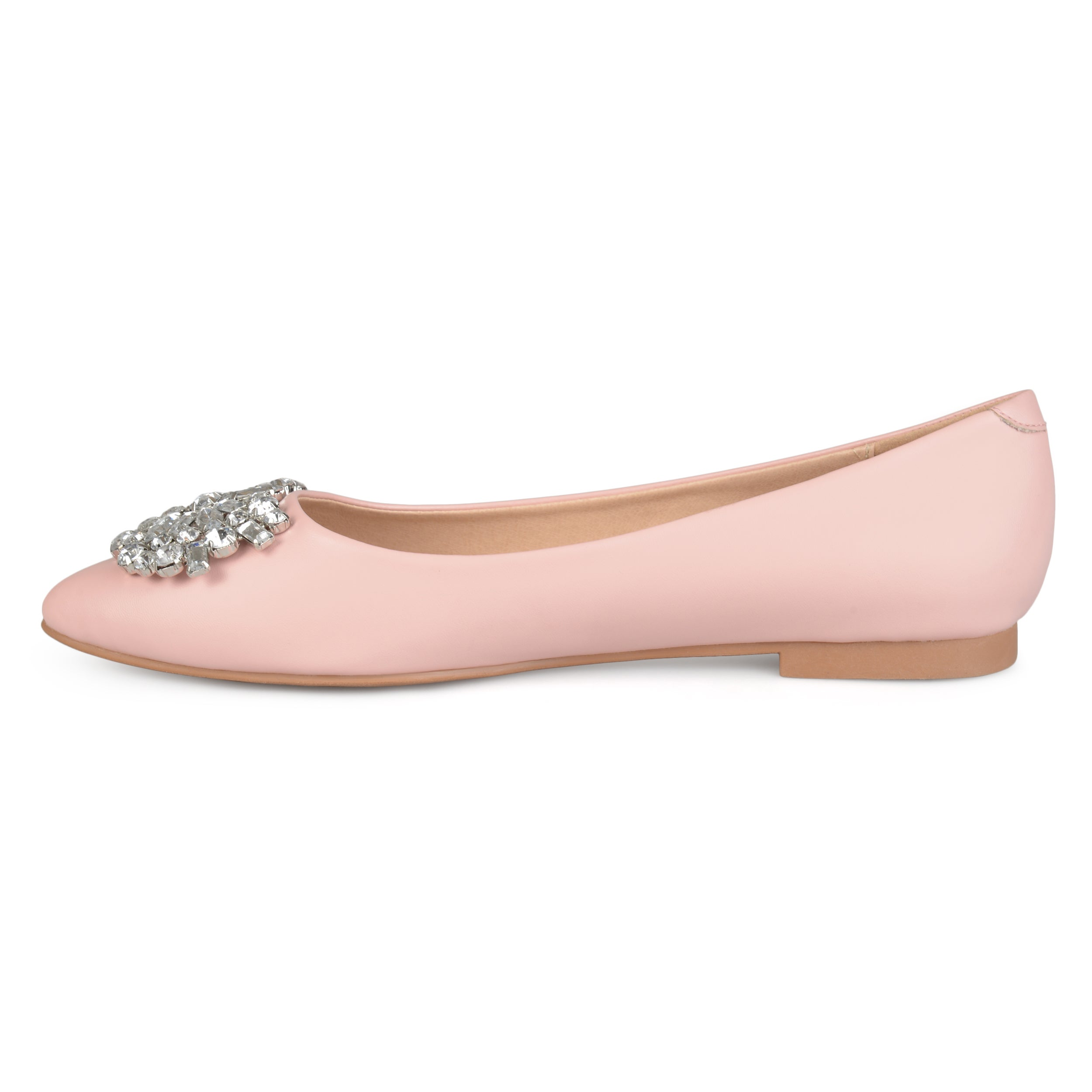 baf76df7faad6 Shop Journee Collection Women's 'Renzo' Pointed Toe Jewel Faux Leather Flats  - Free Shipping On Orders Over $45 - Overstock - 16747865
