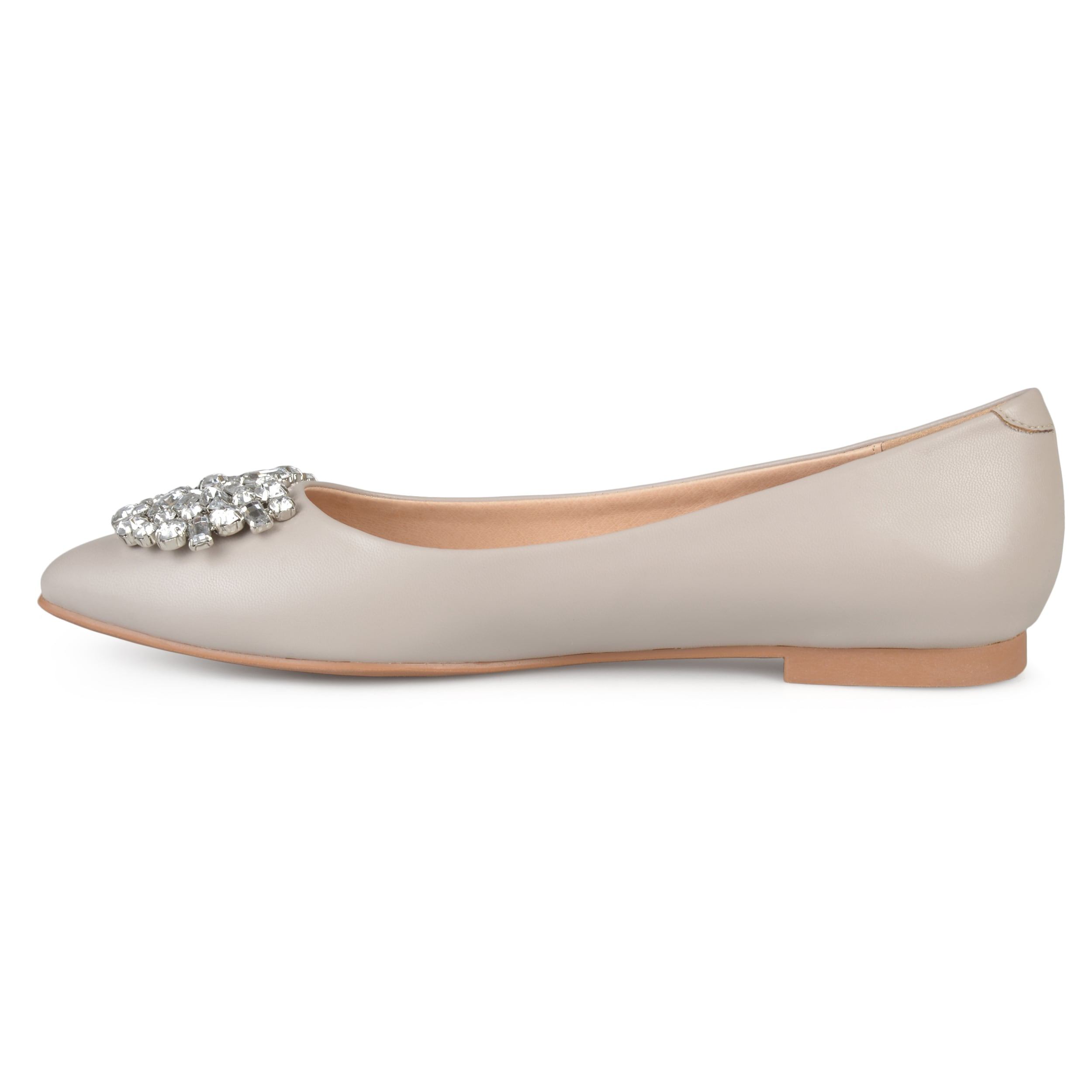 57c578d9c Shop Journee Collection Women's 'Renzo' Pointed Toe Jewel Faux Leather Flats  - Free Shipping On Orders Over $45 - Overstock - 16747865