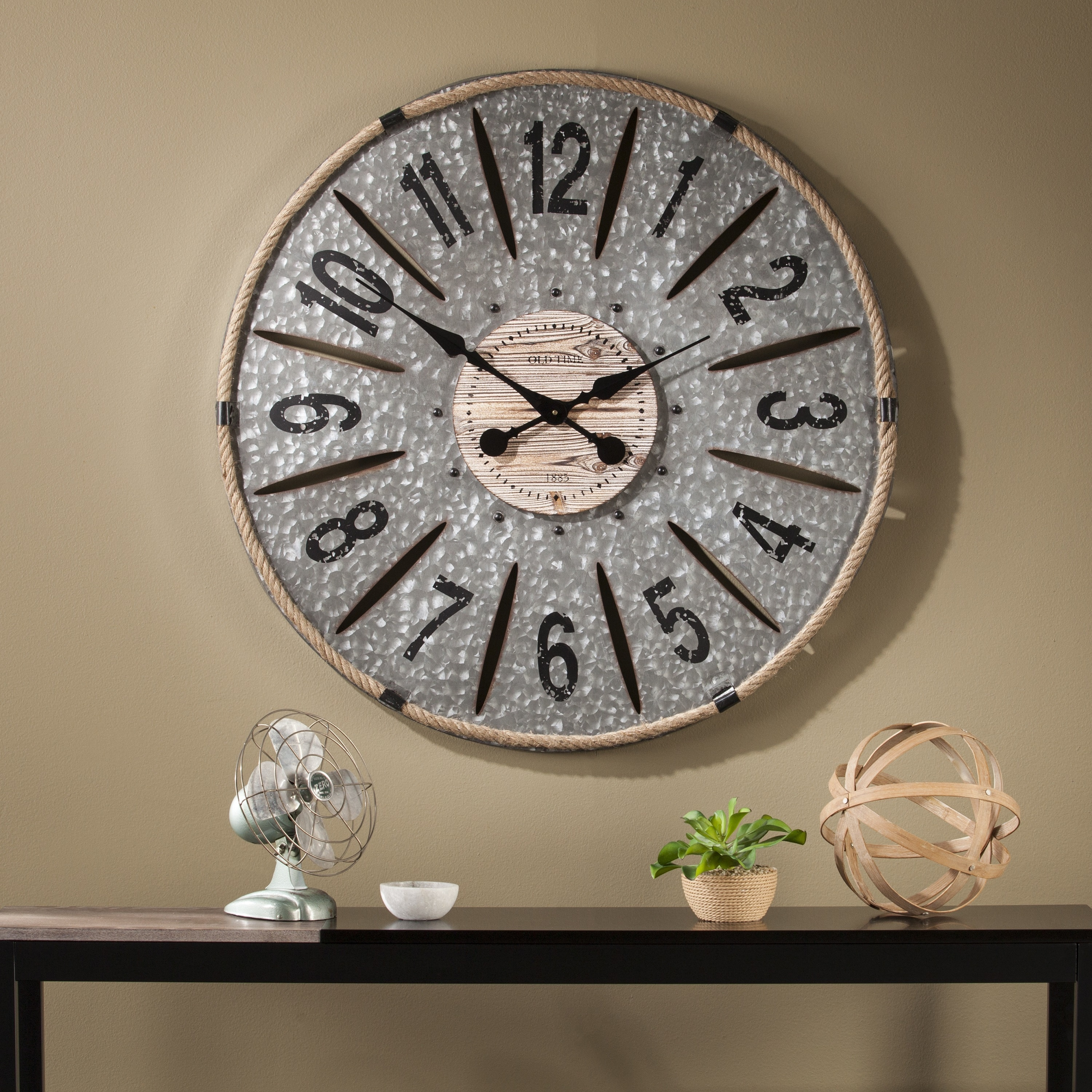 Shop the gray barn jartop decorative oversized wall clock on sale free shipping today overstock com 20882005