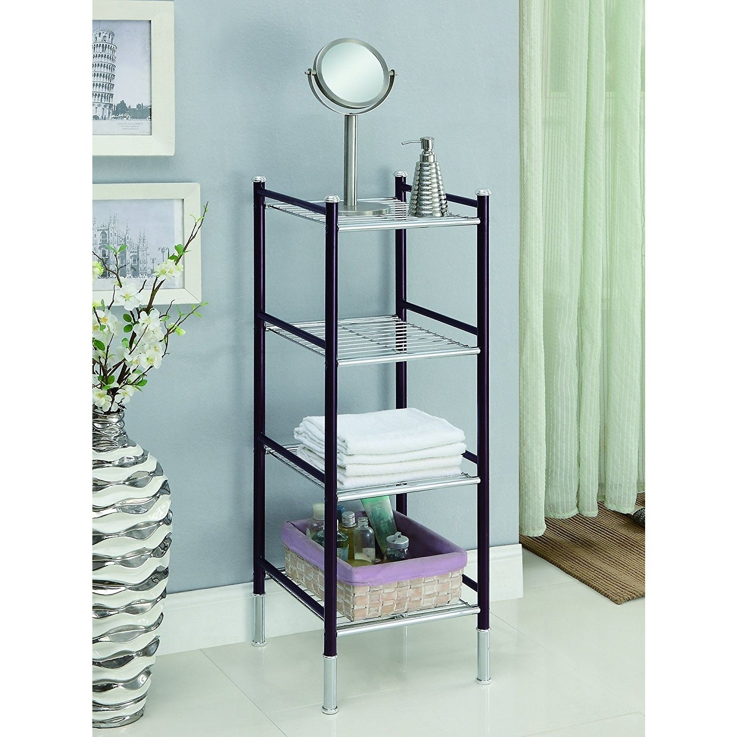 Duplex 4 Tier Bathroom Tower - Free Shipping Today - Overstock ...
