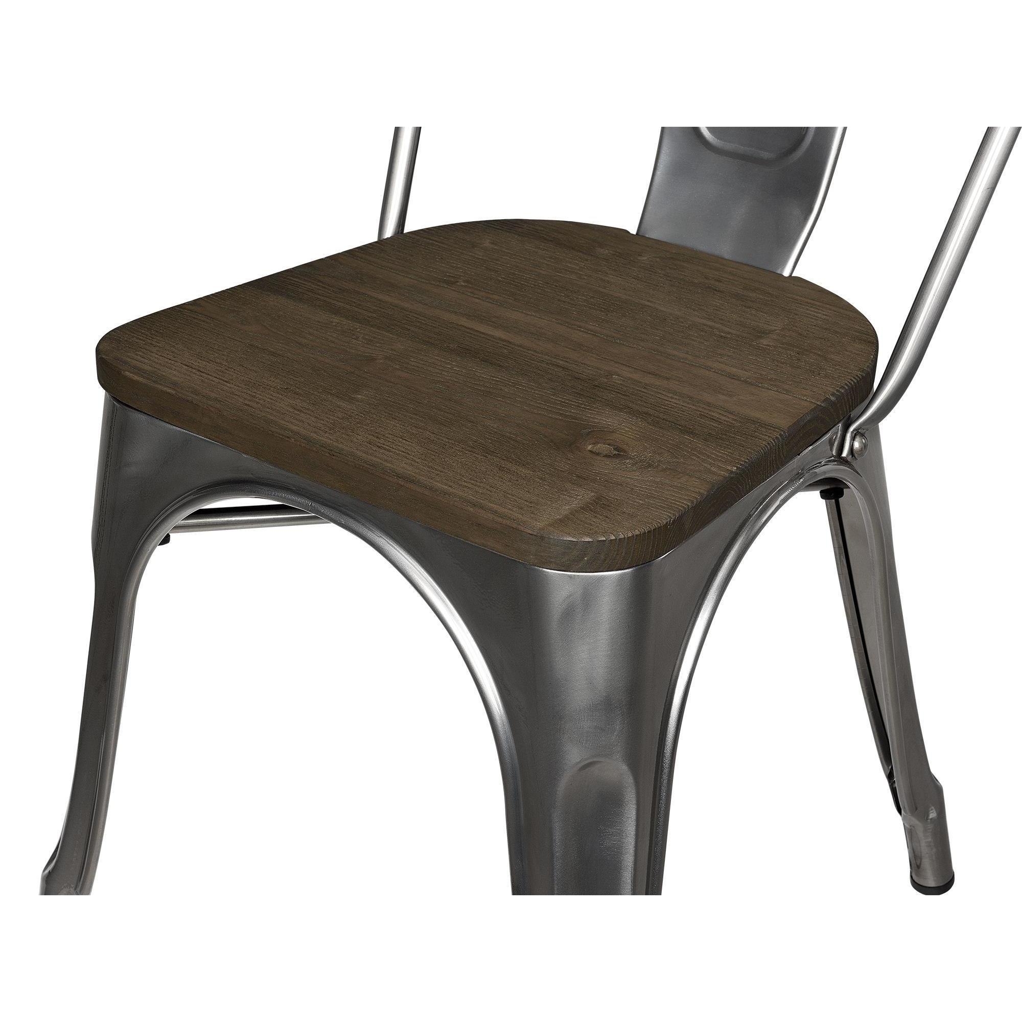 Shop DHP Fusion Antique Gun Metal 2 Chairs And Square Table Set   Free  Shipping Today   Overstock.com   16751126
