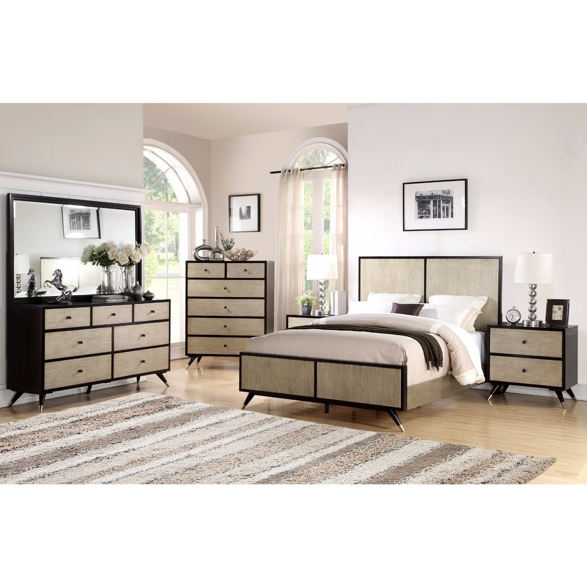 Abbyson Lennon Mid Century 6 Piece Bedroom Set - Free Shipping Today -  Overstock.com - 23061941 Interior Bedroom Ideas ookie1.com