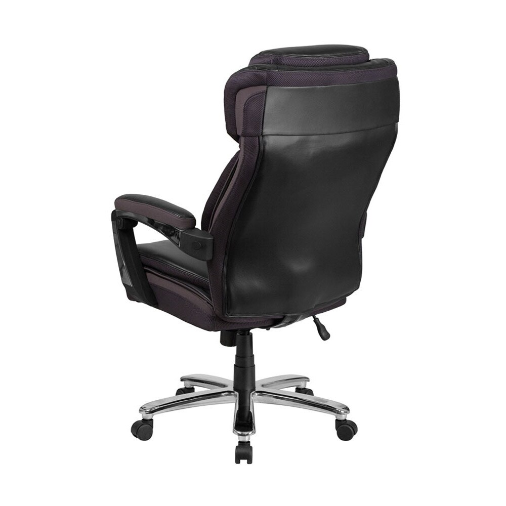 Offex Hercules Series And Tall Black Leather Executive Swivel Office Chair With Height Adjule Headrest Free Shipping Today 23063235