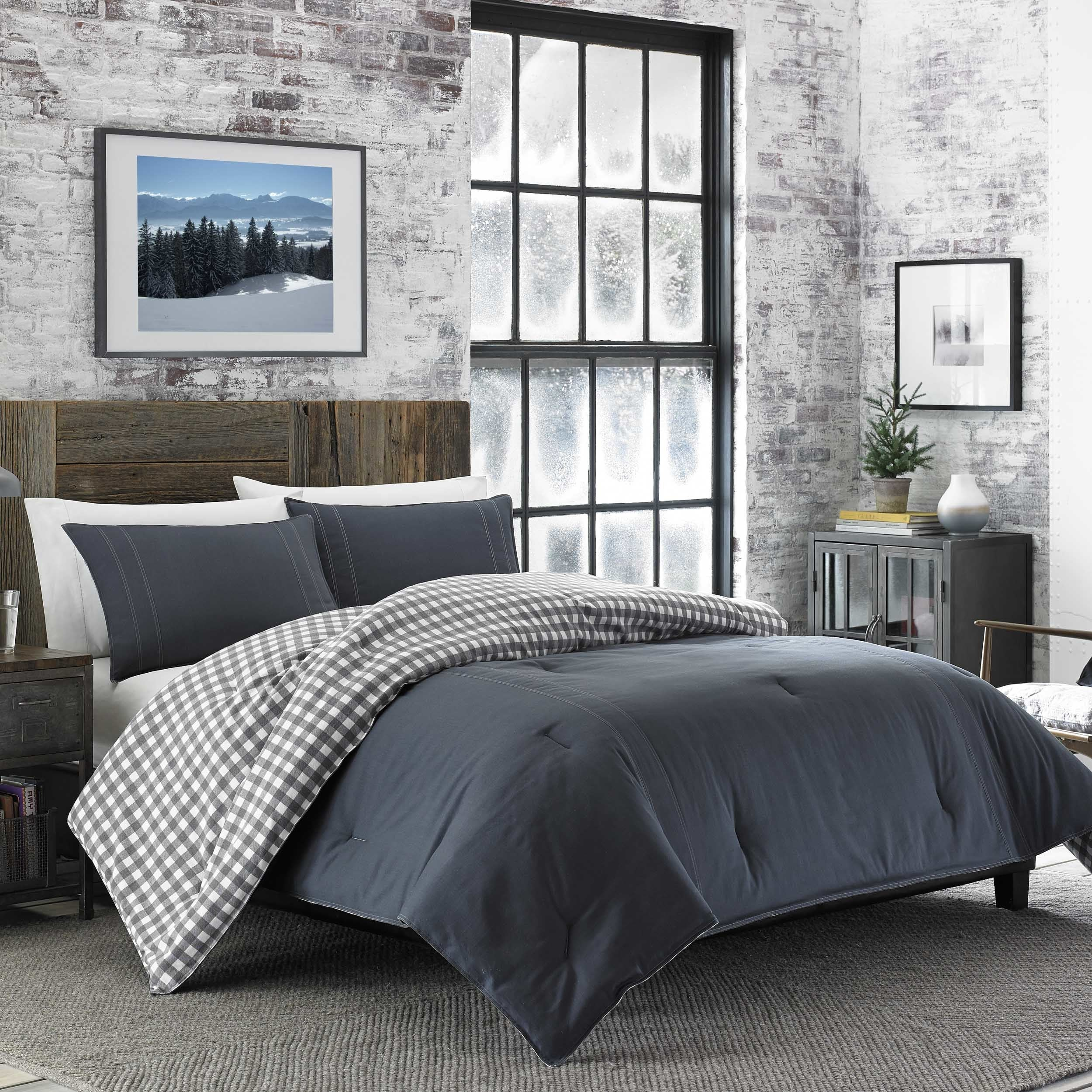 Shop Eddie Bauer Kingston Charcoal Cotton and Flannel Reverse ...