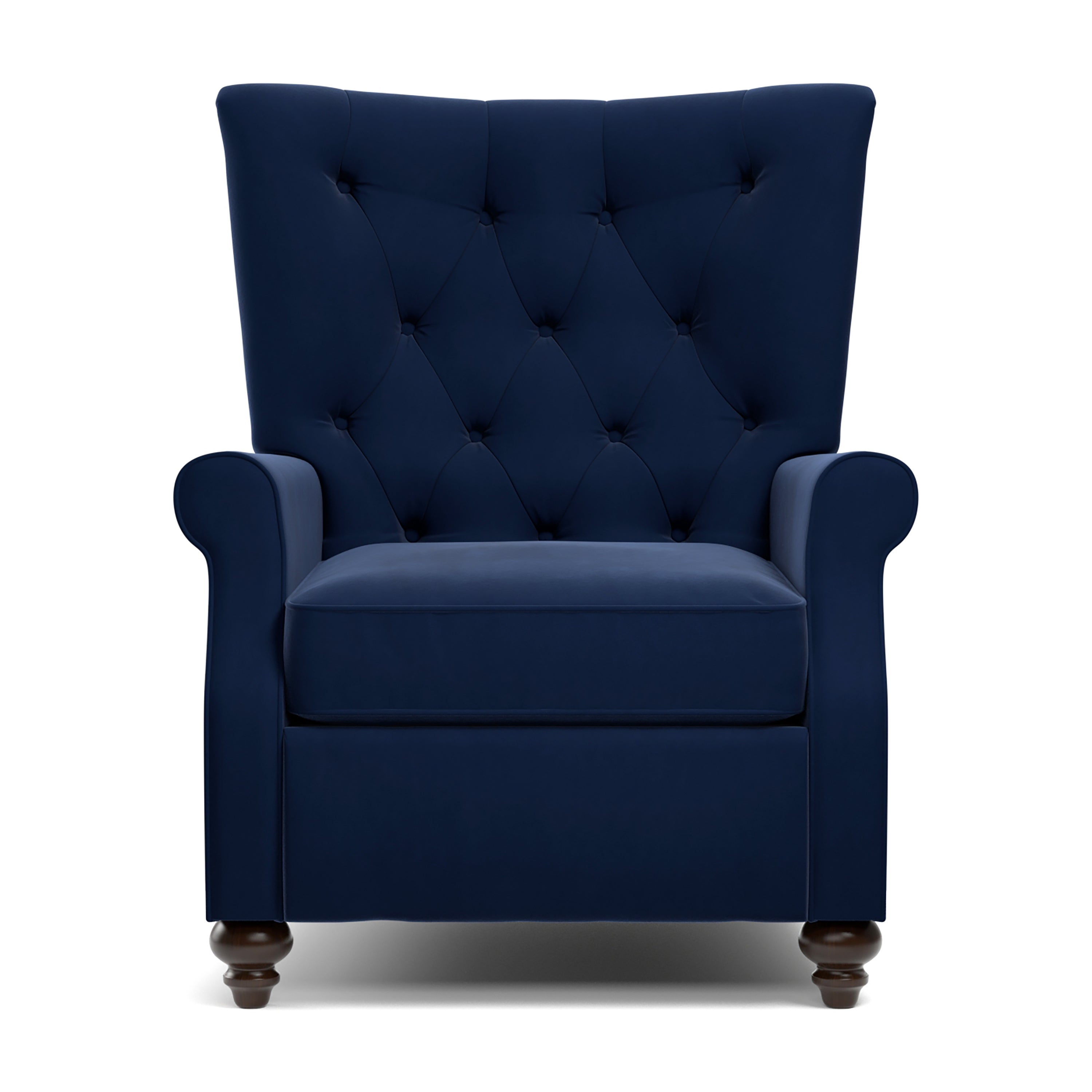 Beau Shop Copper Grove Kamoya Navy Blue Velvet Push Back Recliner Chair   On  Sale   Free Shipping Today   Overstock.com   23123042
