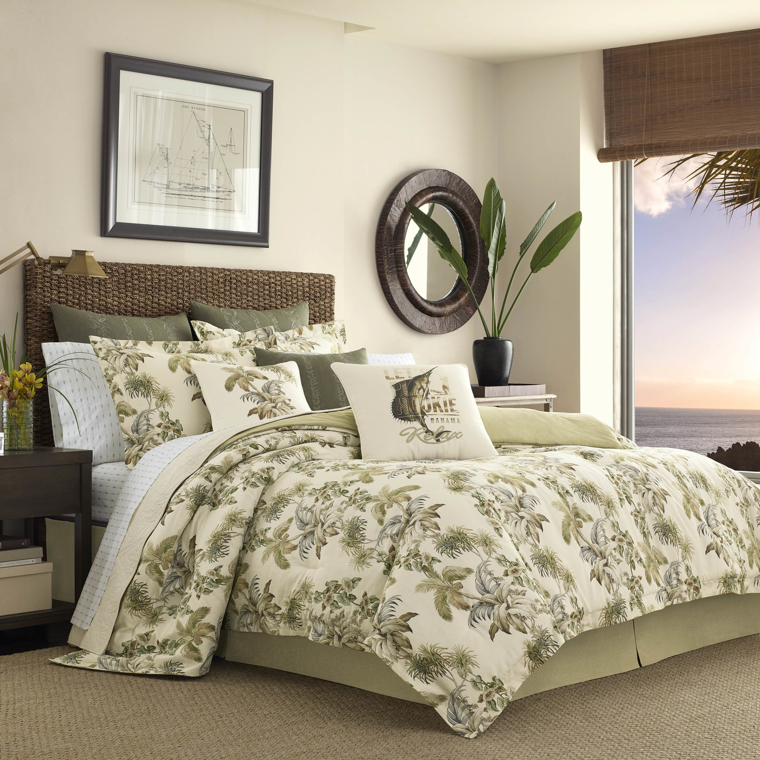 quilt blue comforter bahama tommy sale bath on cotton free king bedding turtle product set cove