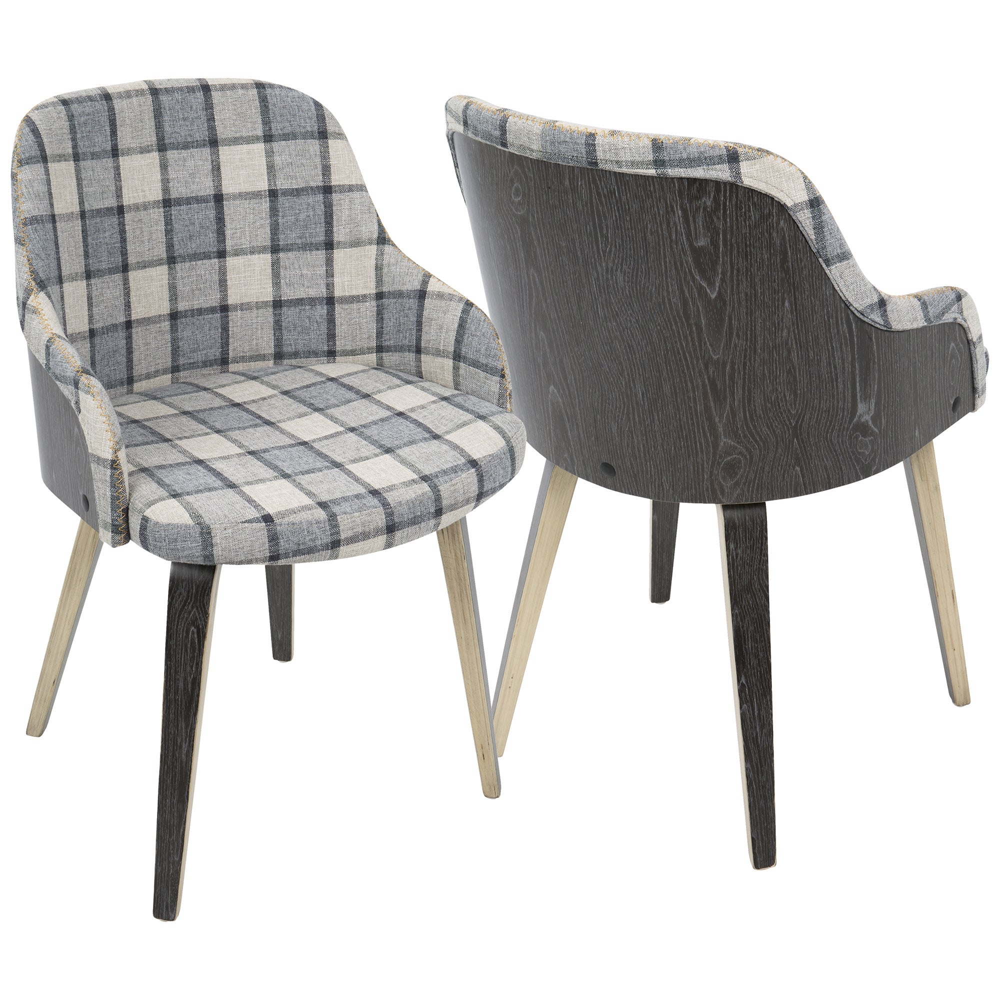 Shop Bacci Mid Century Modern Upholstered Dining/Accent Chair   Free  Shipping Today   Overstock.com   16764440