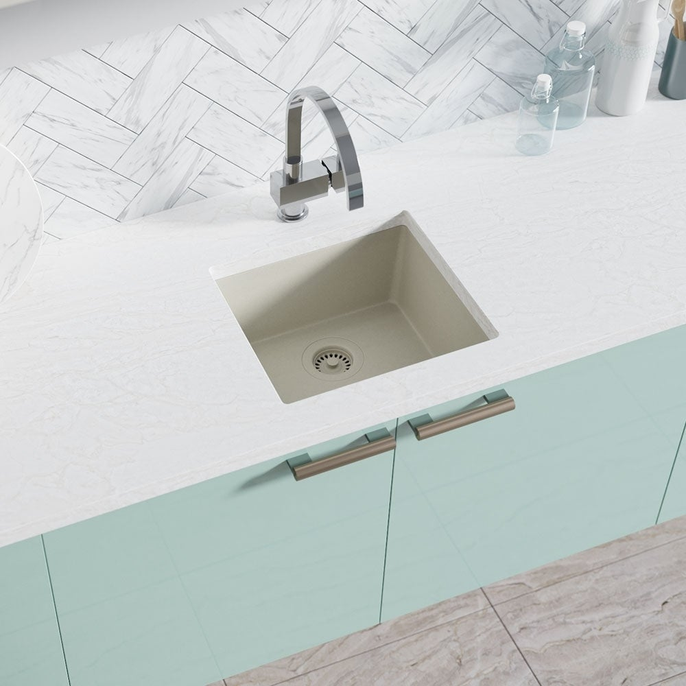 R3-1003 Single Bowl Composite Granite Kitchen Sink with Grid and ...